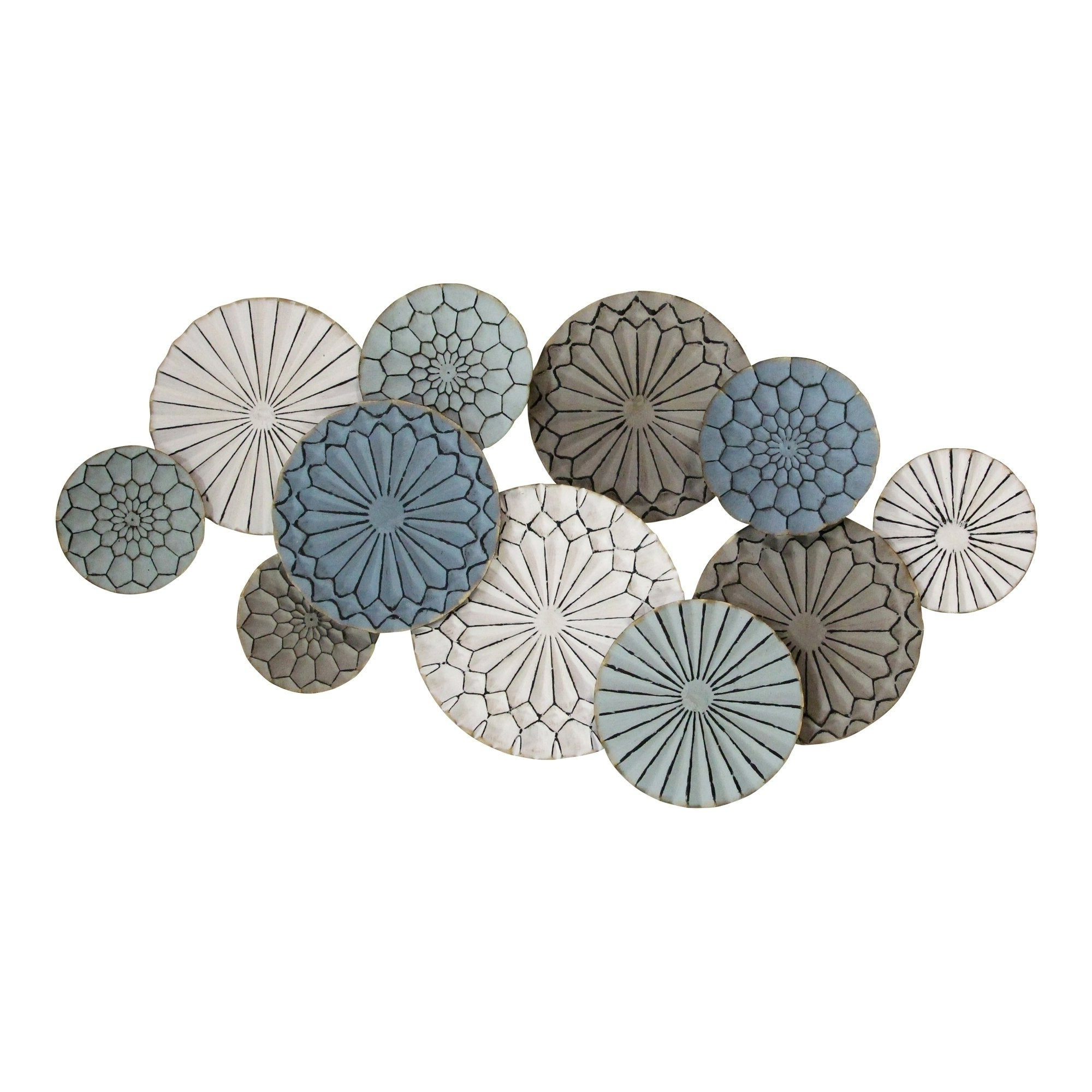 Multi Plates Wall Décor By Stratton Home Decor Inside Most Recent Stratton Home Decor Caroline Metal Plates Statement Wall Décor (View 14 of 20)