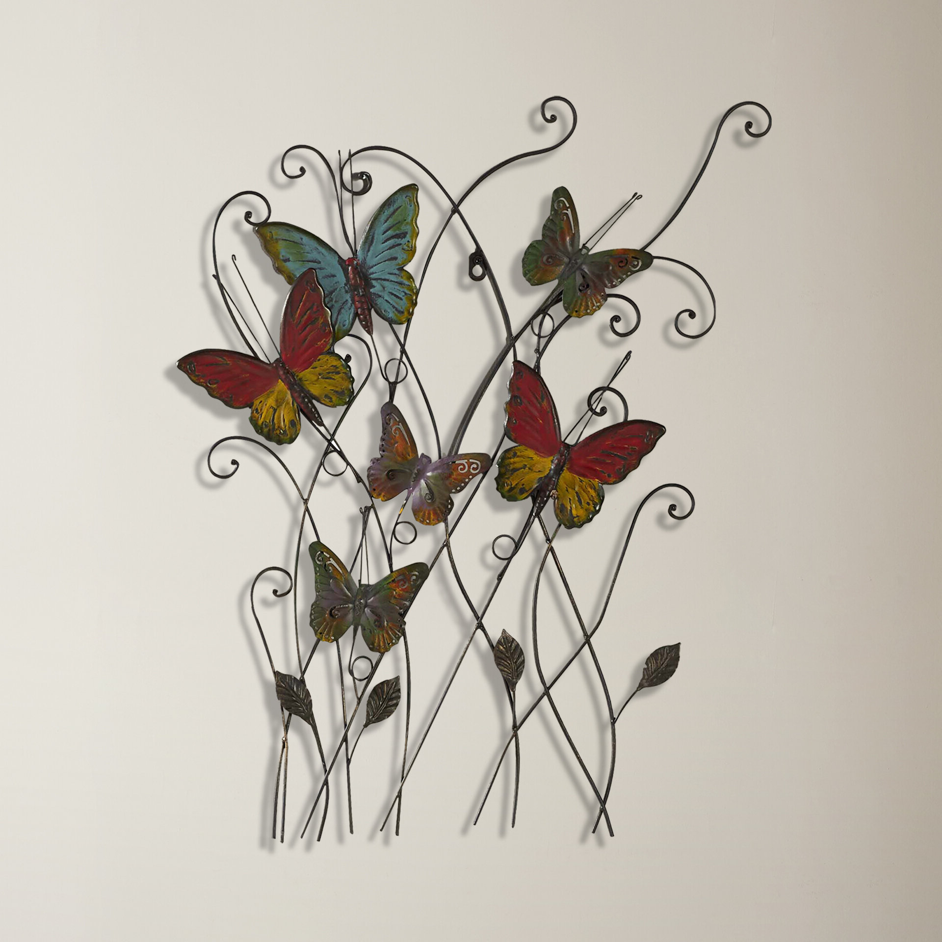 Featured Photo of Multicolored Butterfly Bouquet Wall Décor