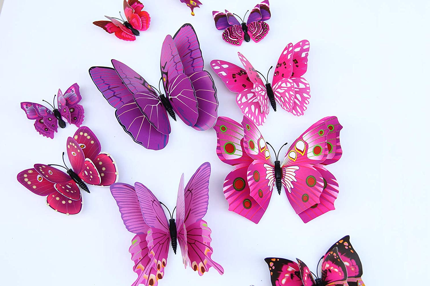 Multicolored Butterfly Bouquet Wall Décor Within Favorite Zhuopin 24pcs Wall Sticker Decals,3d Butterfly Wall Sticker (View 9 of 20)