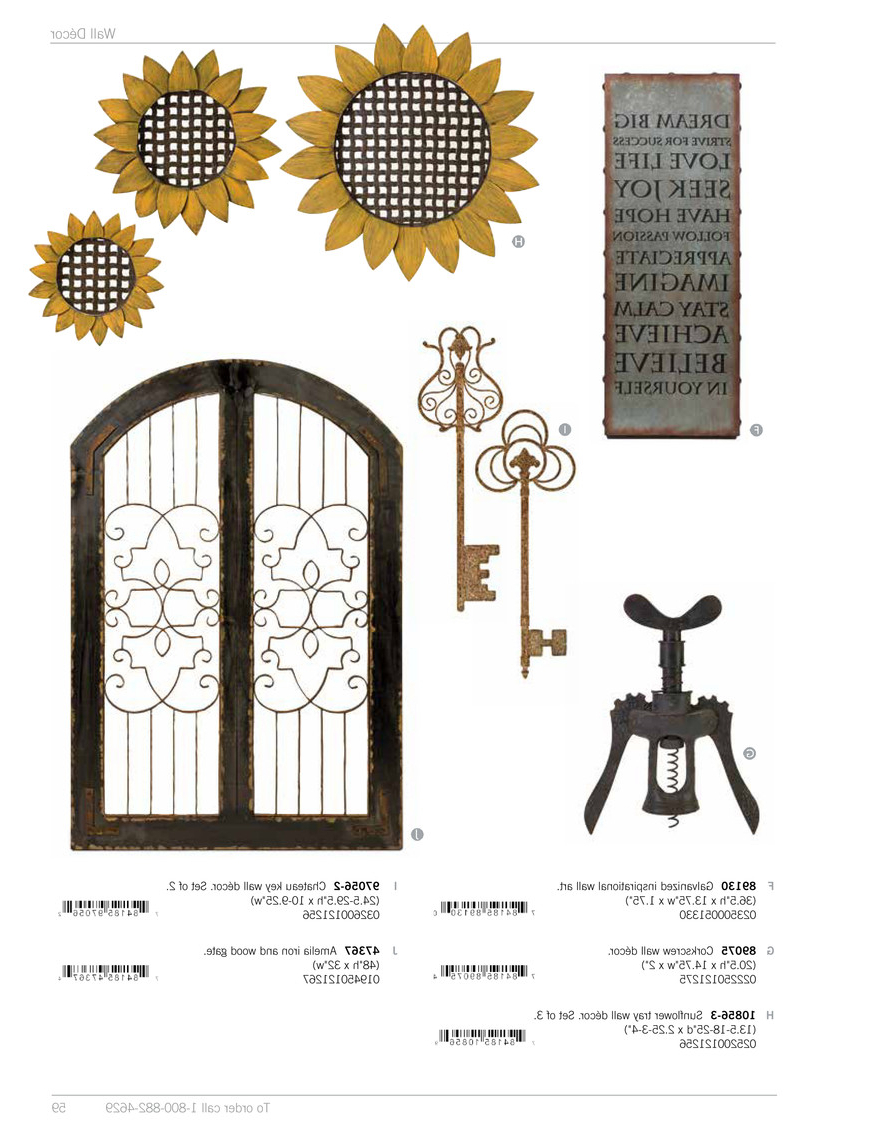 My Publications – Imax Wall Decor Spring 2014 – Page 62 63 Inside Well Liked Key Wall Décor (set Of 2) (View 16 of 20)