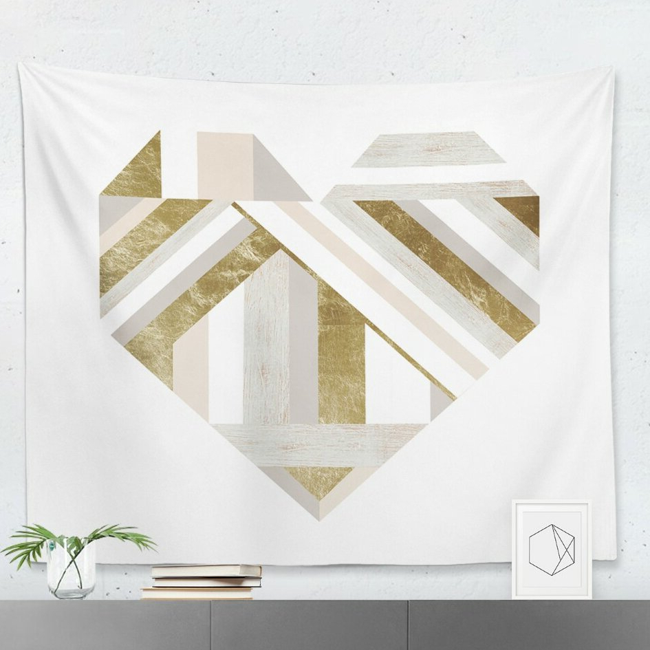 'my Wooden Heart' Wall Tapestry For 2019 Blended Fabric Living Life Bell Pull Wall Hangings (View 18 of 20)