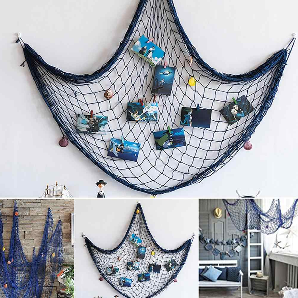 Nautical Decorative Fishing Net Sea Theme Fish Net Decor For Inside Well Known Handcrafted Hanging Fish In Net Wall Décor (View 17 of 20)