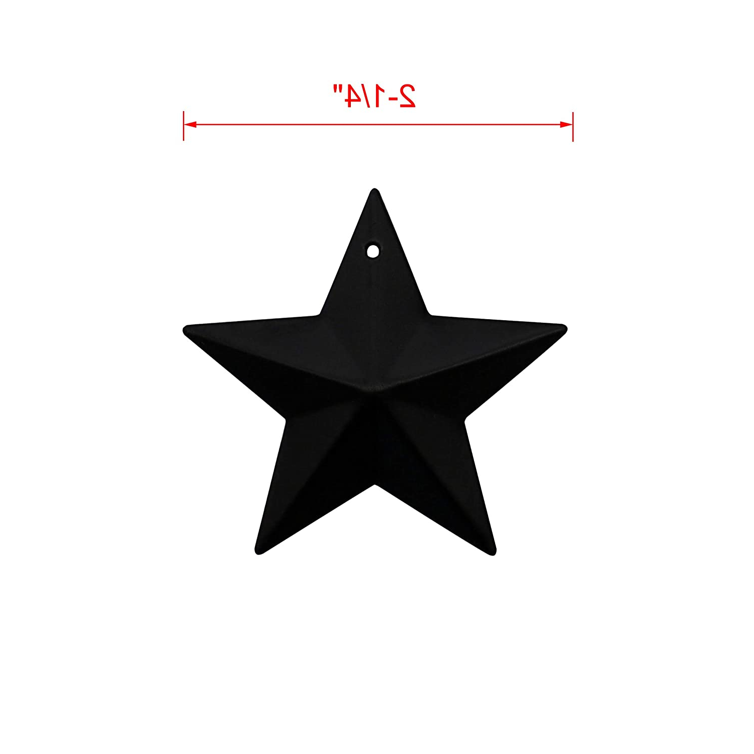 Newest Barn Star Wall Décor (set Of 2) Regarding Home Décor Country Rustic Primitive Vintage Gifts Black (View 18 of 20)