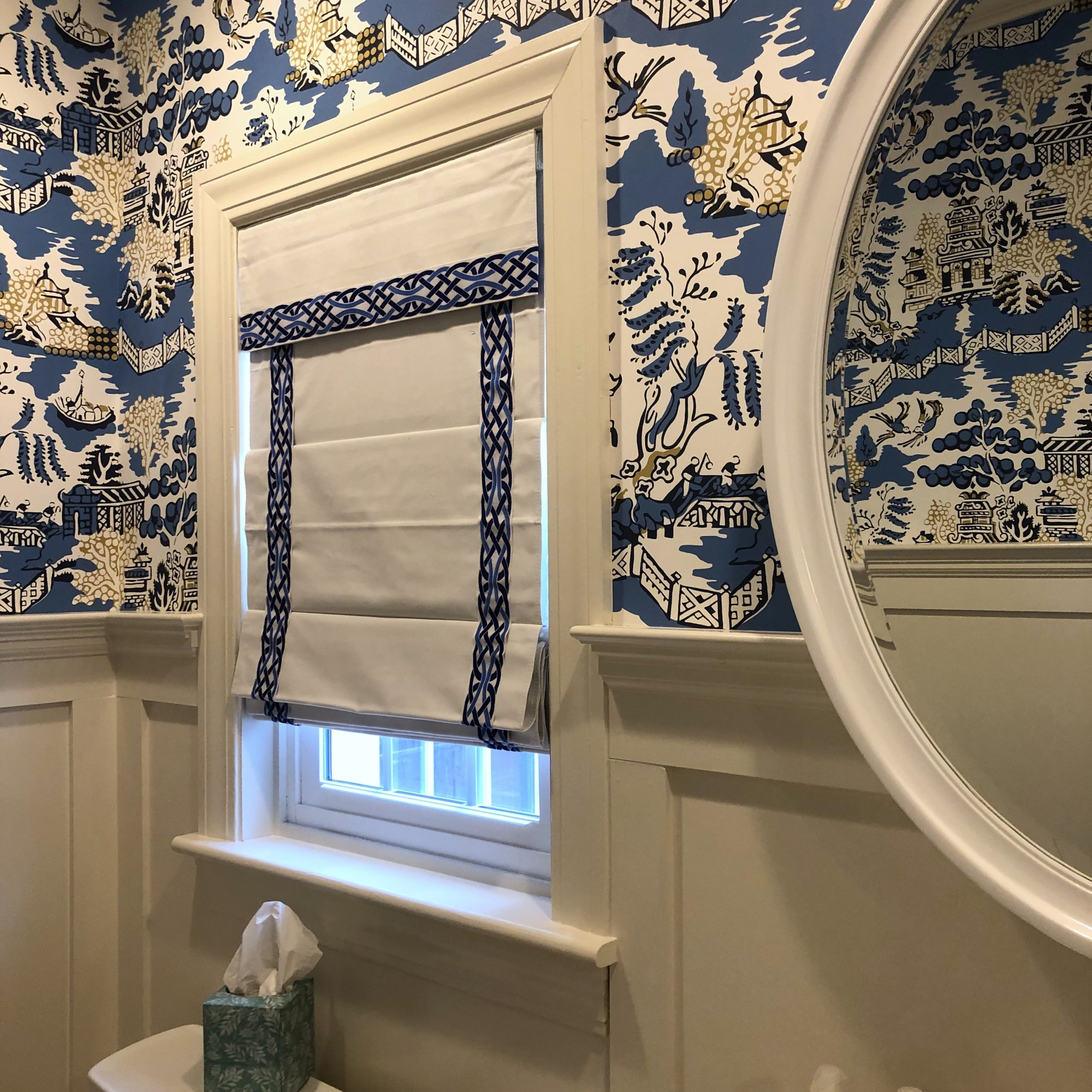 Newest Blended Fabric Hidden Garden Chinoiserie Wall Hangings With Rod Inside How To Make Budget Window Treatments Look Expensive (View 20 of 20)