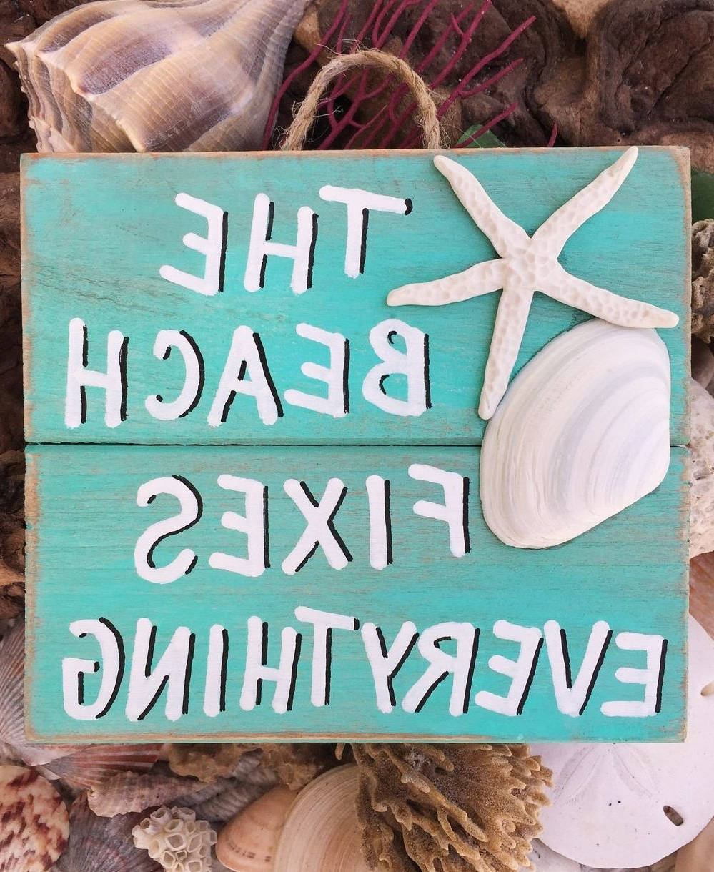 Newest Coastal Flag Sign With Rope Wall Décor In 200+ Coastal Wall Art & Decor Ideas In (View 14 of 20)