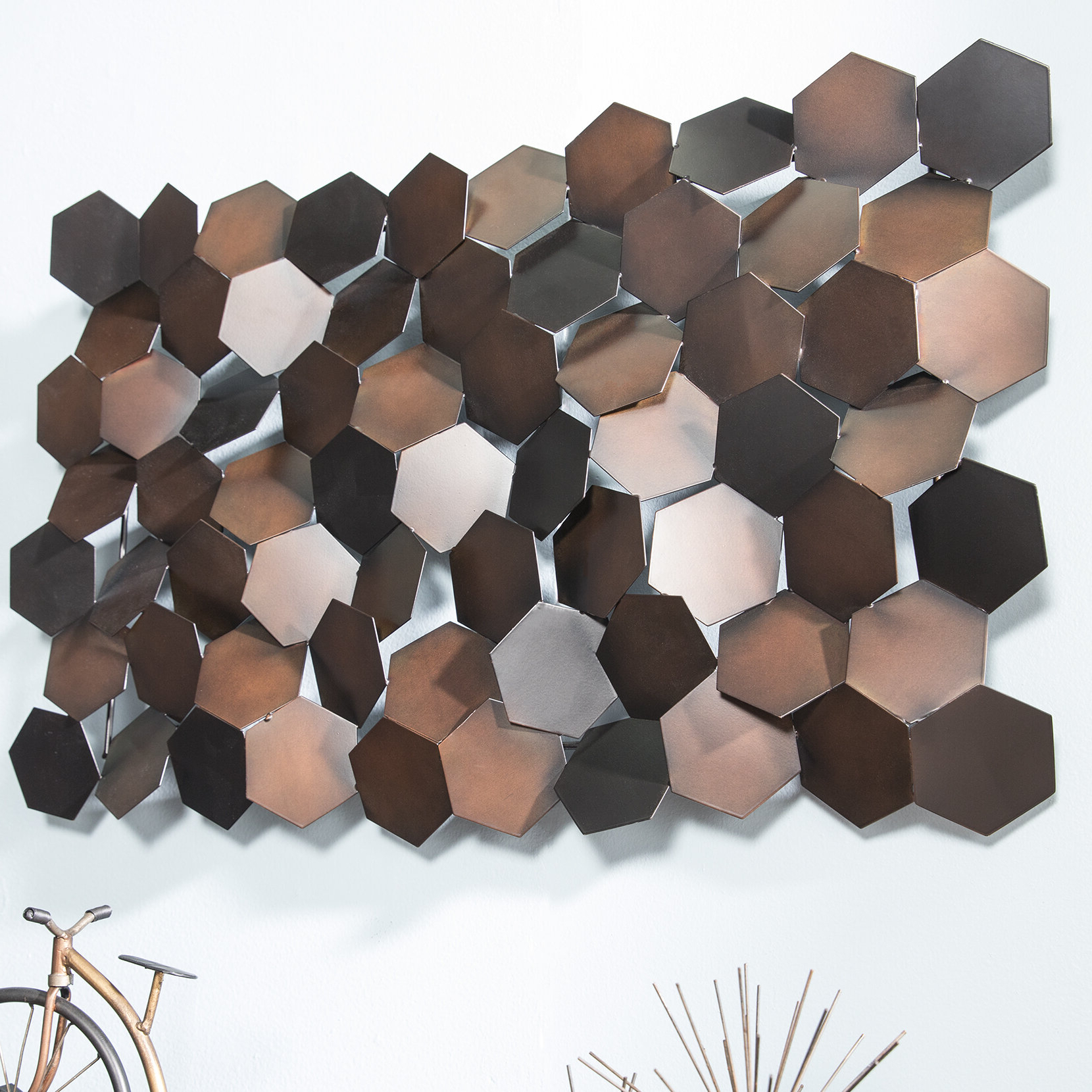 Newest Copper Rustic Iron Wall Décor With Metal Wall Décor (View 7 of 20)