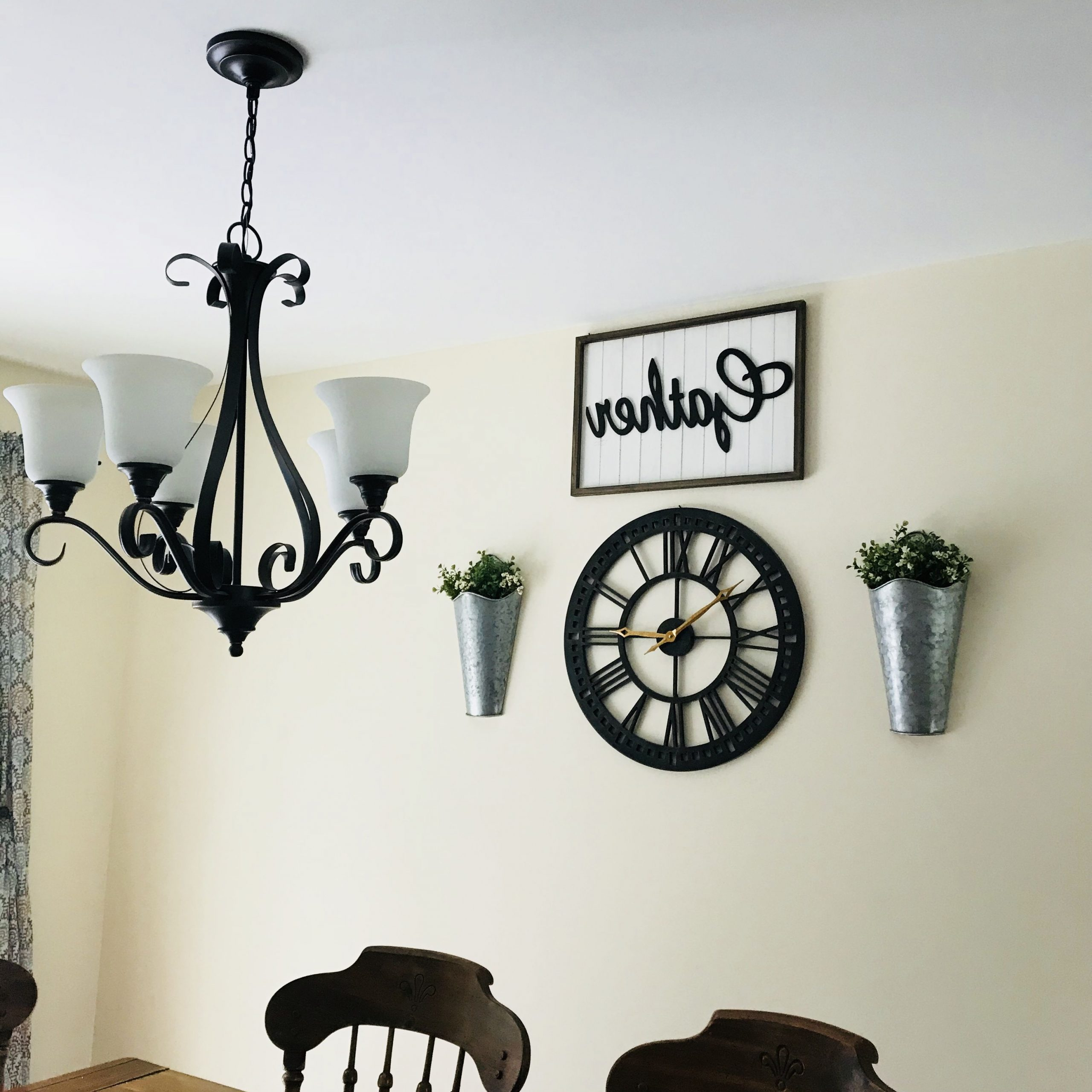 Newest Farmhouse Wall Decor. Gather Sign. Wall Clock (View 12 of 20)