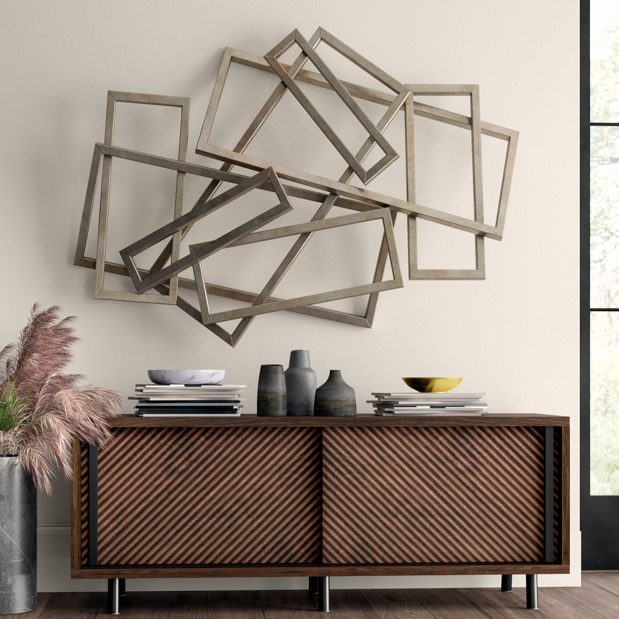 Newest Rectangular Metal Wall Décor Throughout Rectangles Iron Wall Décor (View 9 of 20)