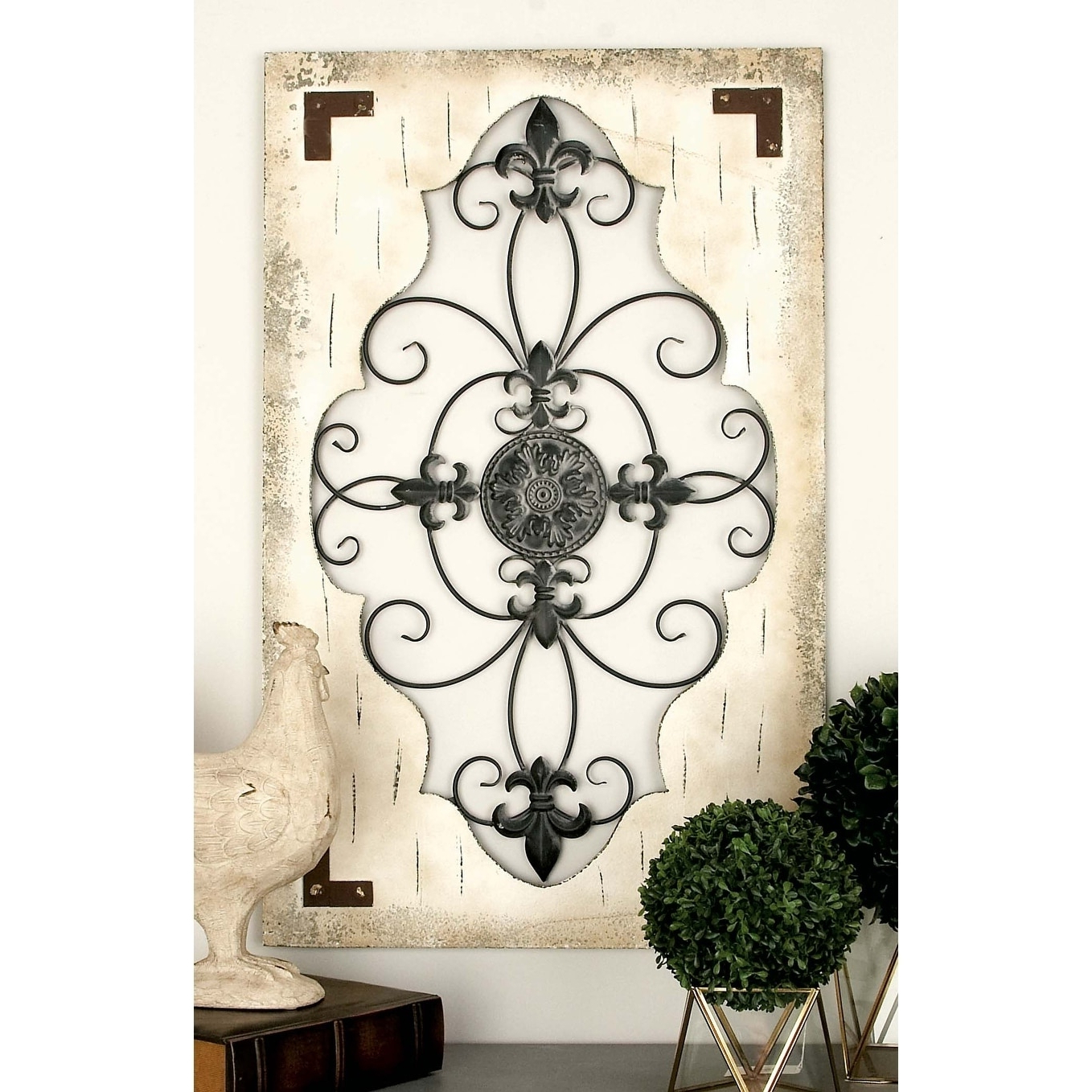 Newest Tree Branch Wall Décor By Fleur De Lis Living With Rustic 42 X 26 Inch Scroll And Fleur De Lis Wall Decorstudio (View 8 of 20)
