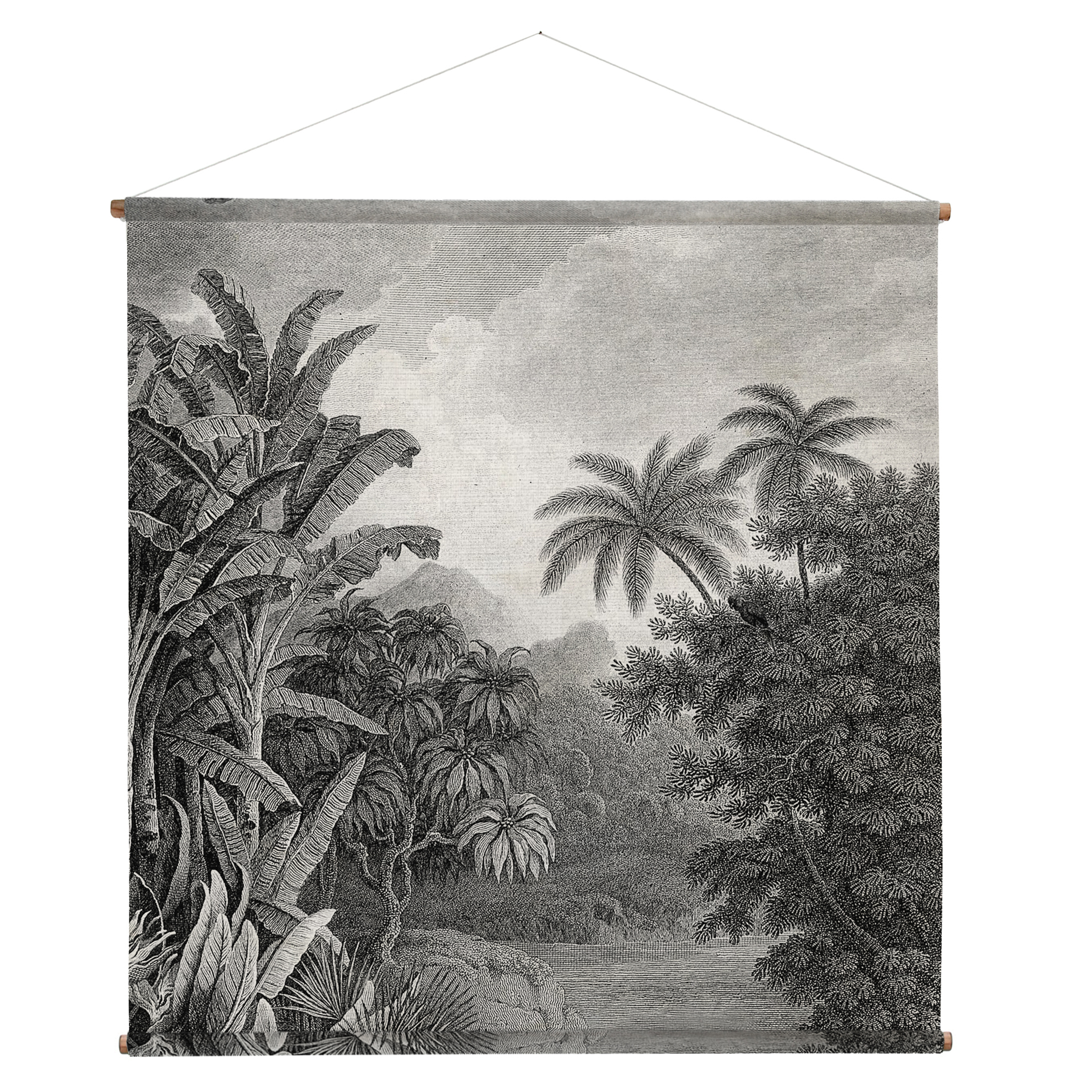 Oversized Jungle Mural Throughout Well Known Blended Fabric Palm Tree Wall Hangings (View 16 of 20)