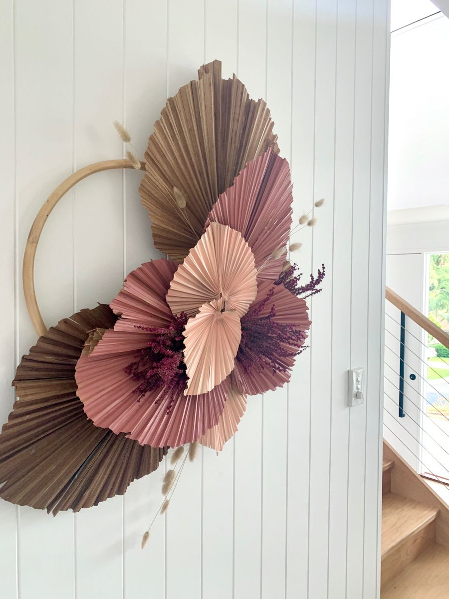 Palm Leaf Decor, Dried Flower With Regard To Popular Blended Fabric Leaves Wall Hangings (View 4 of 20)