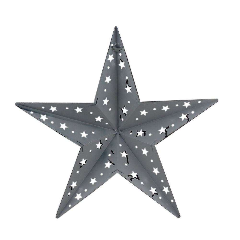 Patriotic Red White And Blue Barn Star 2 Piece Indoor/outdoor Wall Hanging Set Inside Recent Barn Star Wall Décor (set Of 2) (View 15 of 20)