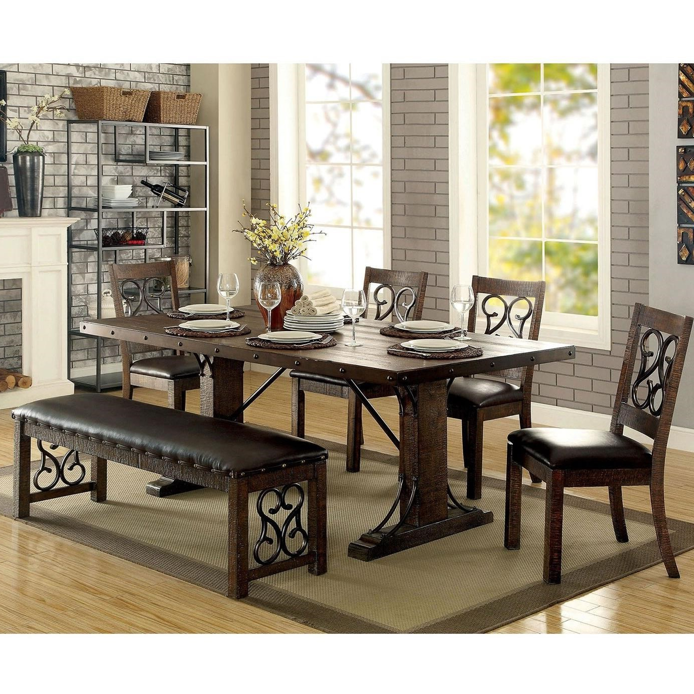 Paulina Dining Set With Bench Pertaining To Newest Paulina Panels Wall Décor (set Of 2) (View 18 of 20)