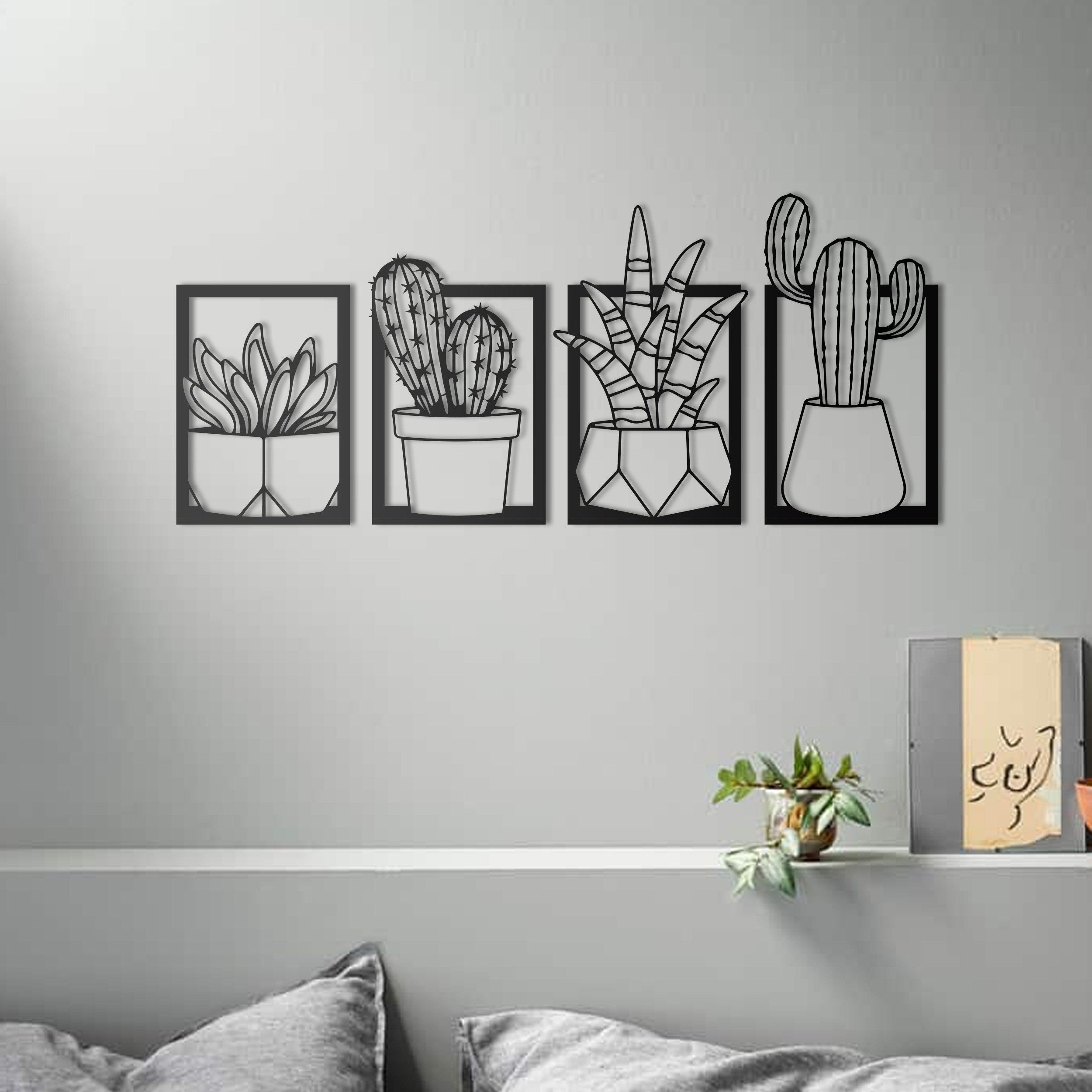 Paulina Panels Wall Décor (set Of 2) Inside Famous Cactus Set Metal Wall Art – 4 Set, Metal Wall Sculpture (View 9 of 20)