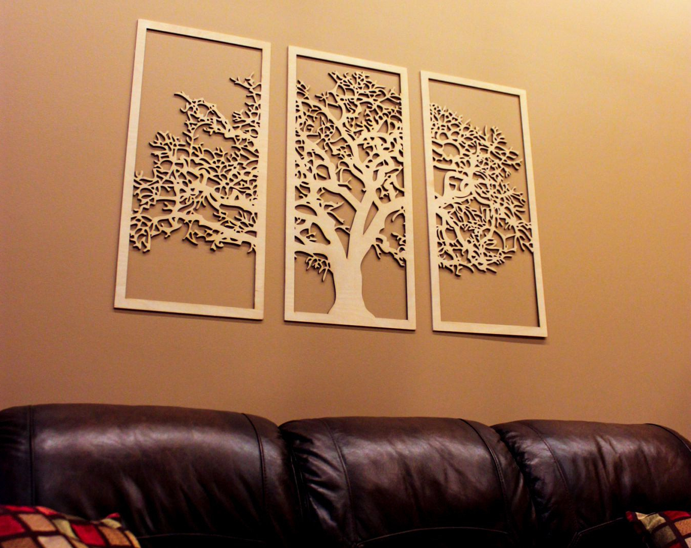 Paulina Panels Wall Décor (set Of 2) Regarding Most Up To Date Tree Of Life 3d 3 Panel Wall Art (View 5 of 20)