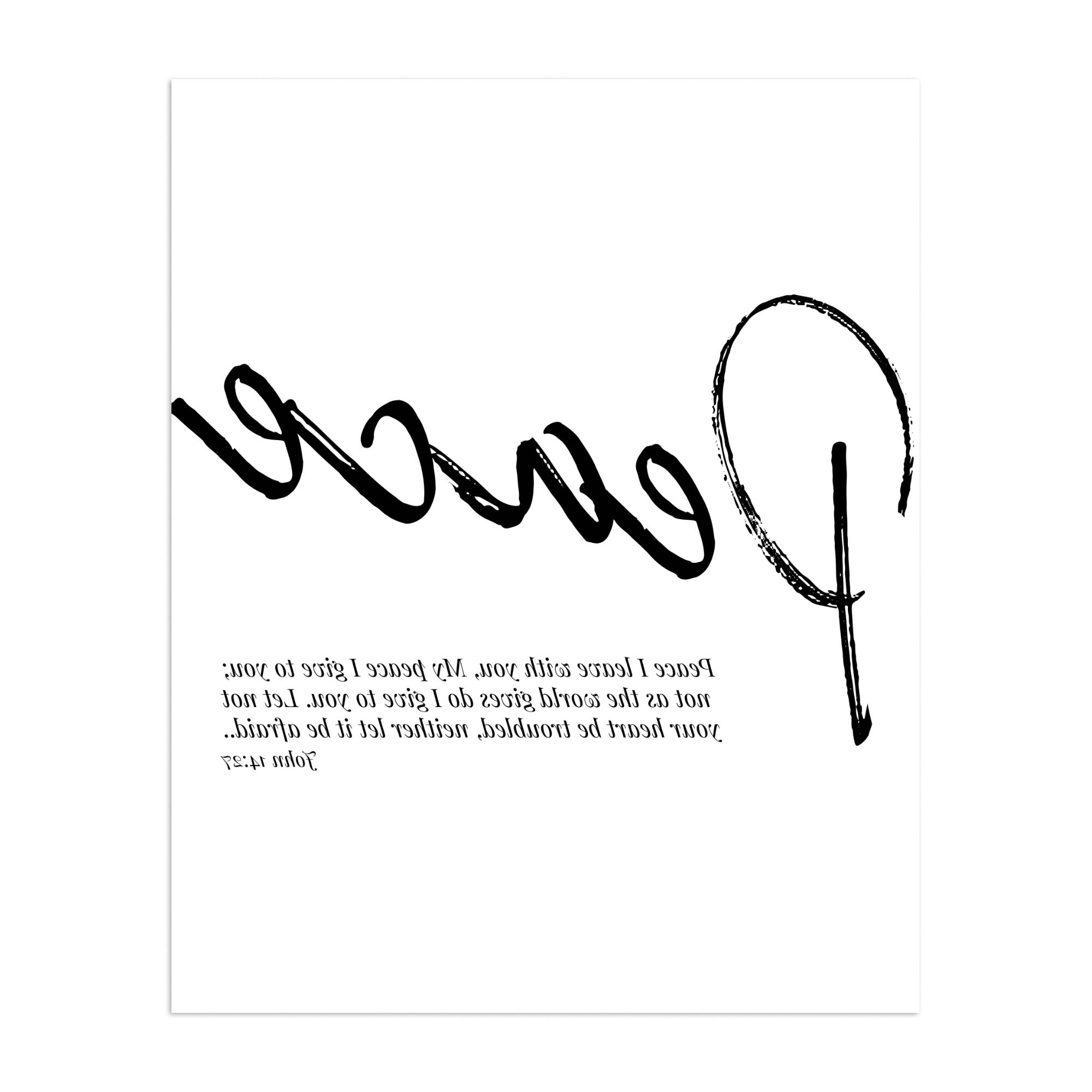 Peace I Leave With You Wall Hangings Within Most Current Bible Bible Verse Religion Typography Unframed Wall Art Print/poster (View 17 of 20)