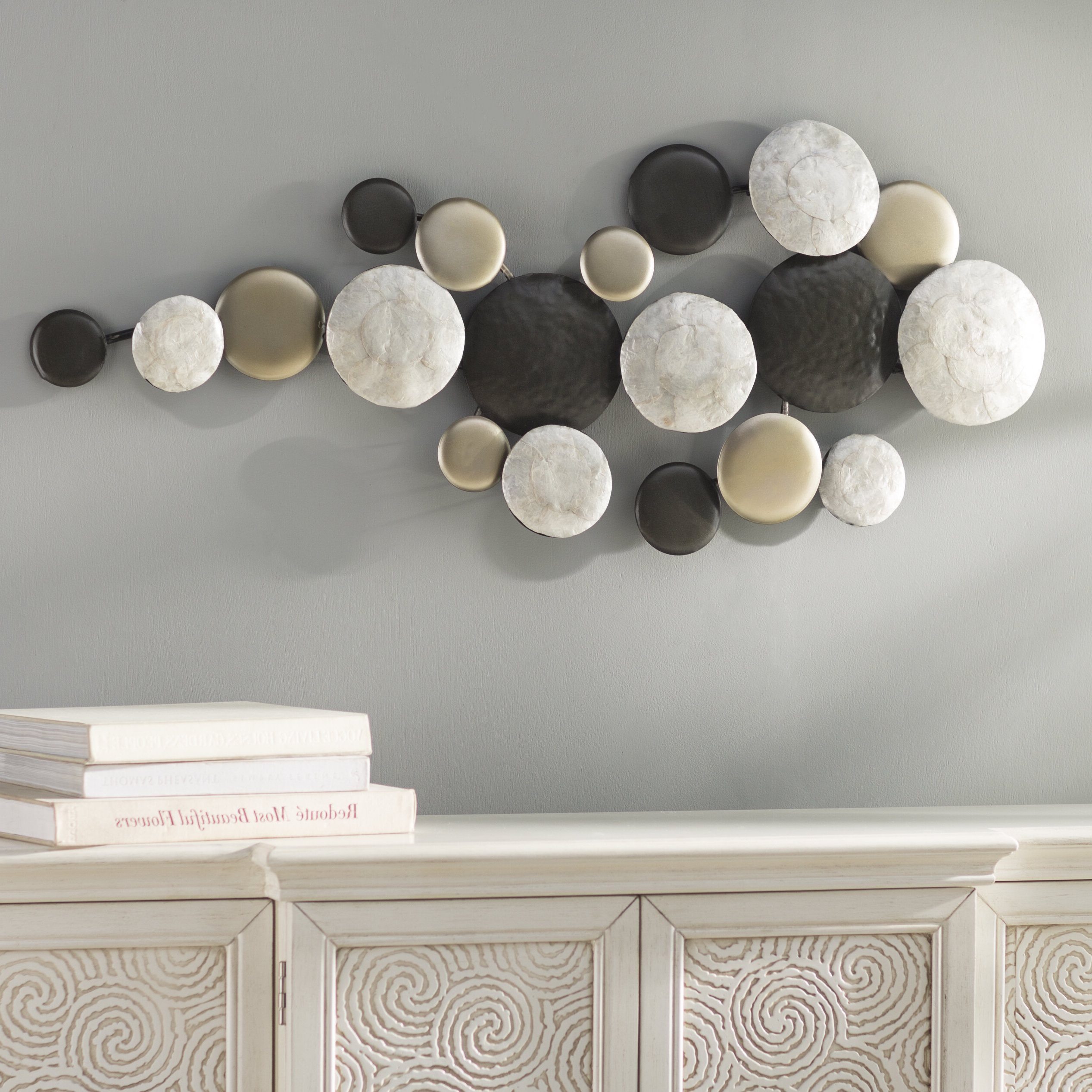 Pebble Trail Wall Decor With Regard To Most Recent Olive/gray Metal Wall Decor By Brayden Studio (View 9 of 20)