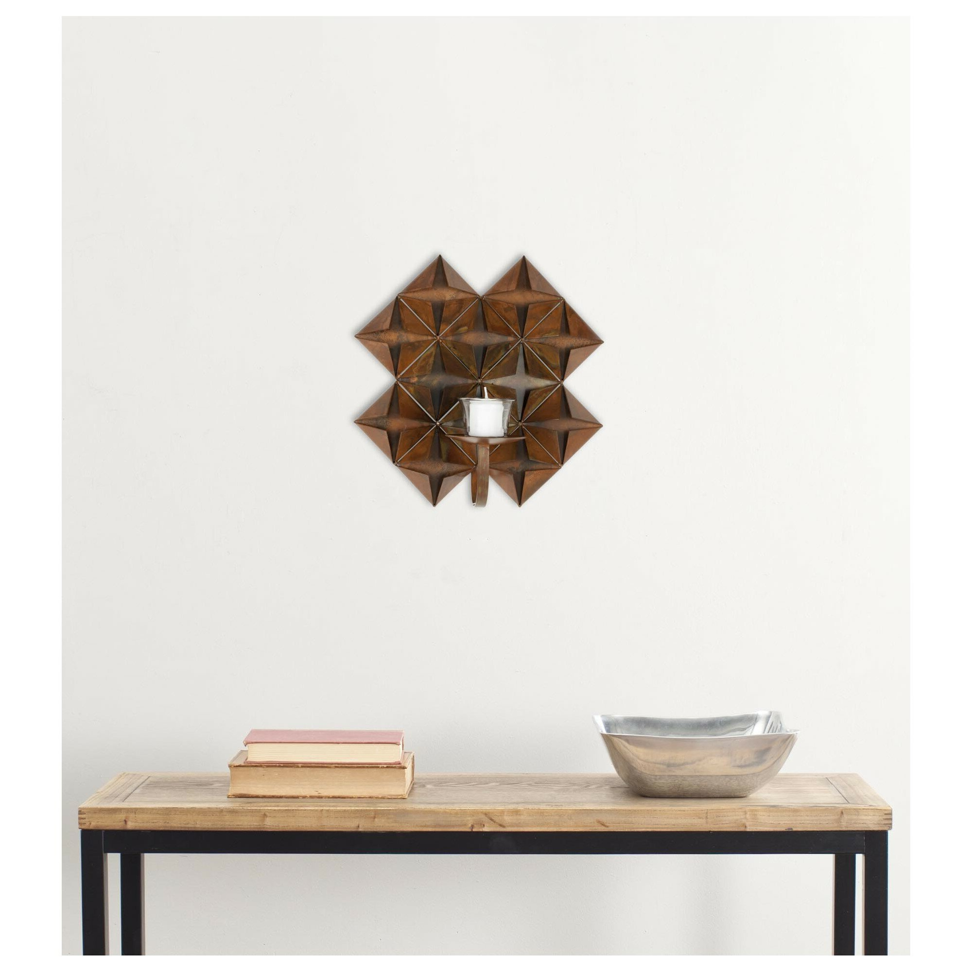 Pillar Wall Sconce In Antique Copper Regarding Most Recent Antique Copper Wall Decor By Winston Porter (View 13 of 20)