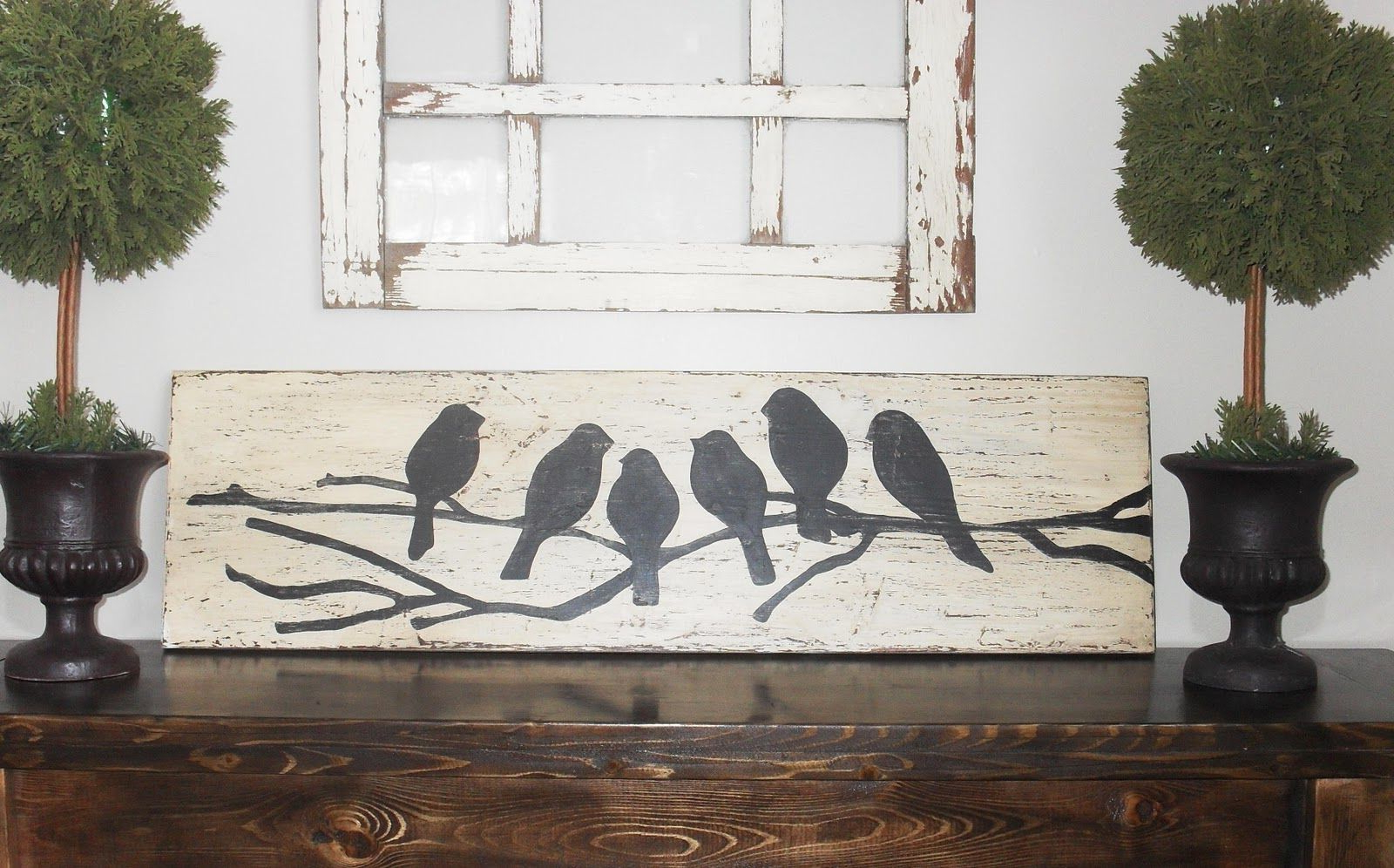 Pin On Bird Sillouette Within Best And Newest Edyth Wood And Metal Wall Décor (View 7 of 20)