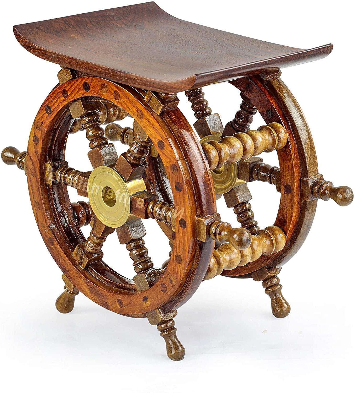 Pirate's Antique Brass Hub Motiff (View 17 of 20)
