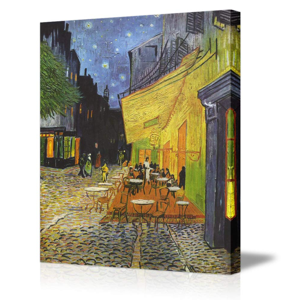 Popular Amazon: Canvas Wall Artvan Gogh Cafe Terrace At With Blended Fabric Van Gogh Terrace Wall Hangings (View 14 of 20)