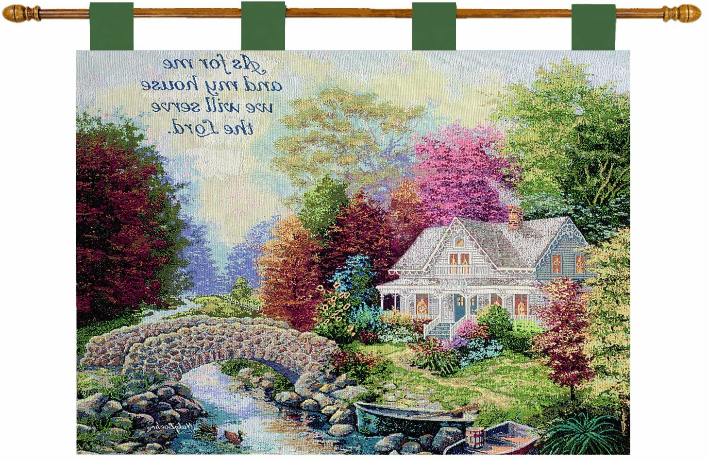 Popular Blended Fabric Garden Of Gethsemane Tapestries And Wall Hangings Inside Manual Inspirational Collection 26 X 36 Inch Wall Hanging And Finial Rod, Autumn Tranquility With Versenicky Boehme, 36 X 26 Inch (View 16 of 20)