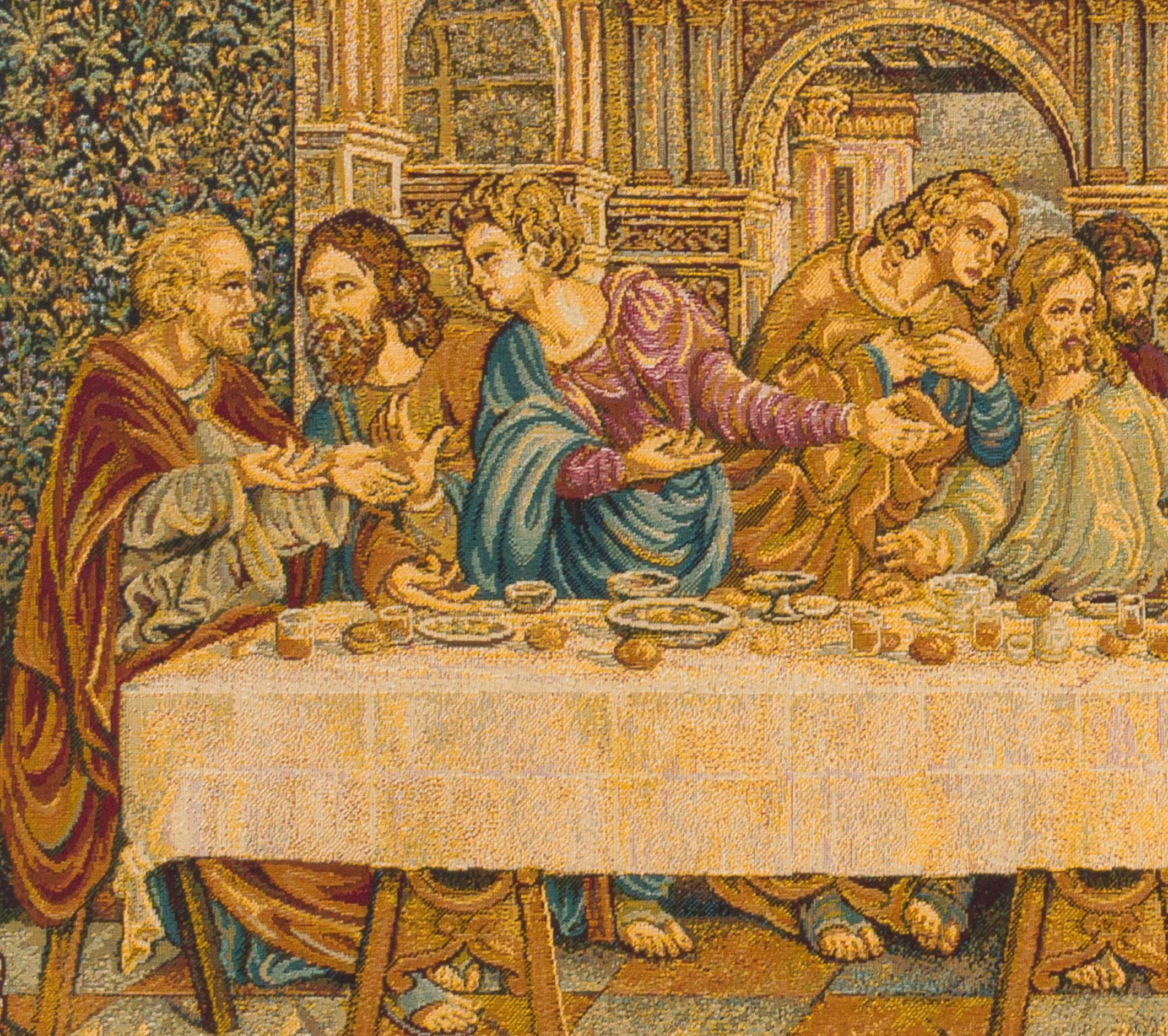 Popular Blended Fabric Leonardo Davinci The Last Supper Wall Hangings Regarding Last Supper Tapestry Wall Hanging Woven Leonardo Da Vinci (View 14 of 20)