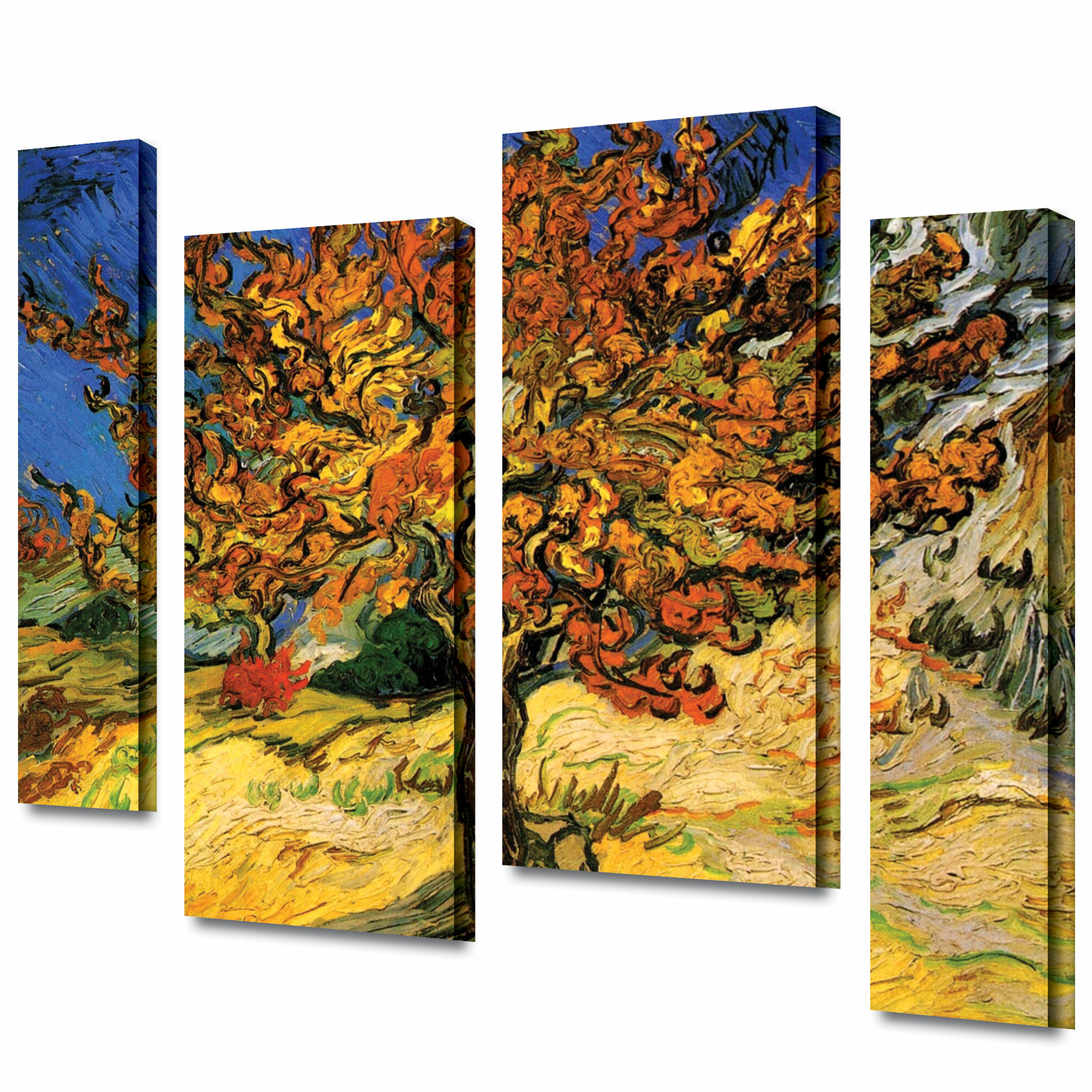 Popular Blended Fabric The Mulberry Tree – Van Gogh Wall Hangings Throughout 'mulberry Tree'vincent Van Gogh 4 Piece Painting Print On Wrapped Canvas Set (View 12 of 20)