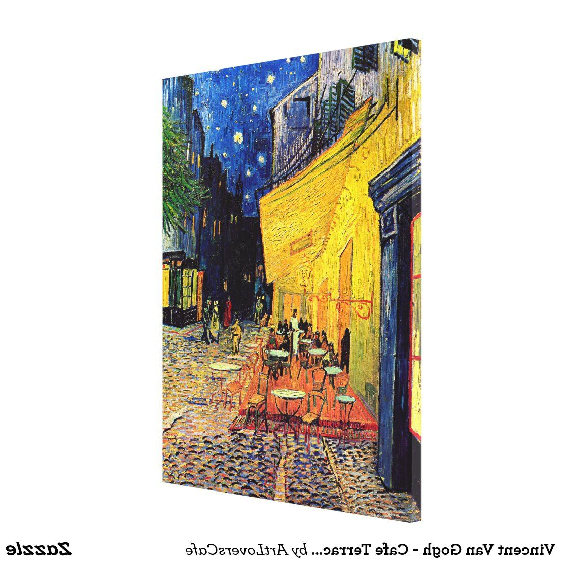 Popular Blended Fabric Van Gogh Terrace Wall Hangings With Regard To Vincent Van Gogh – Cafe Terrace At Night Fine Art Canvas (View 5 of 20)
