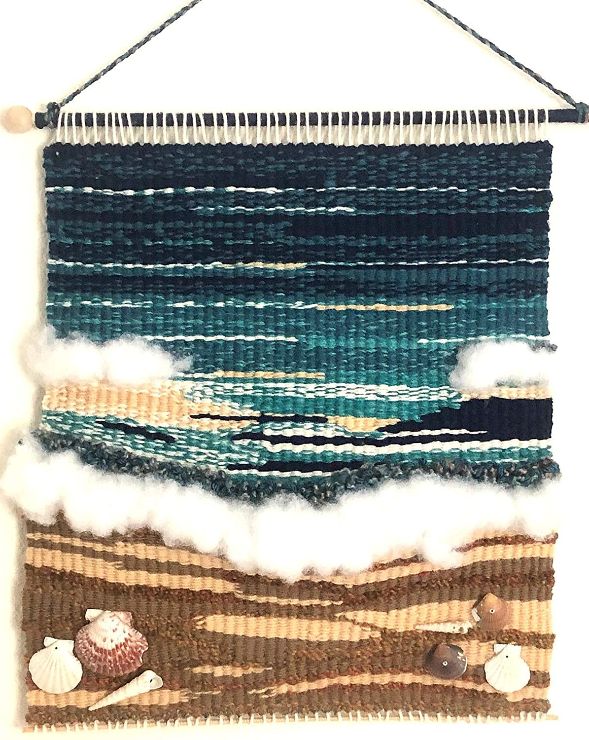Popular Hand Woven Wall Hangings With Regard To Amazon: Ocean Tapestry Wall Hanging – Handwoven Wall Art (View 4 of 20)