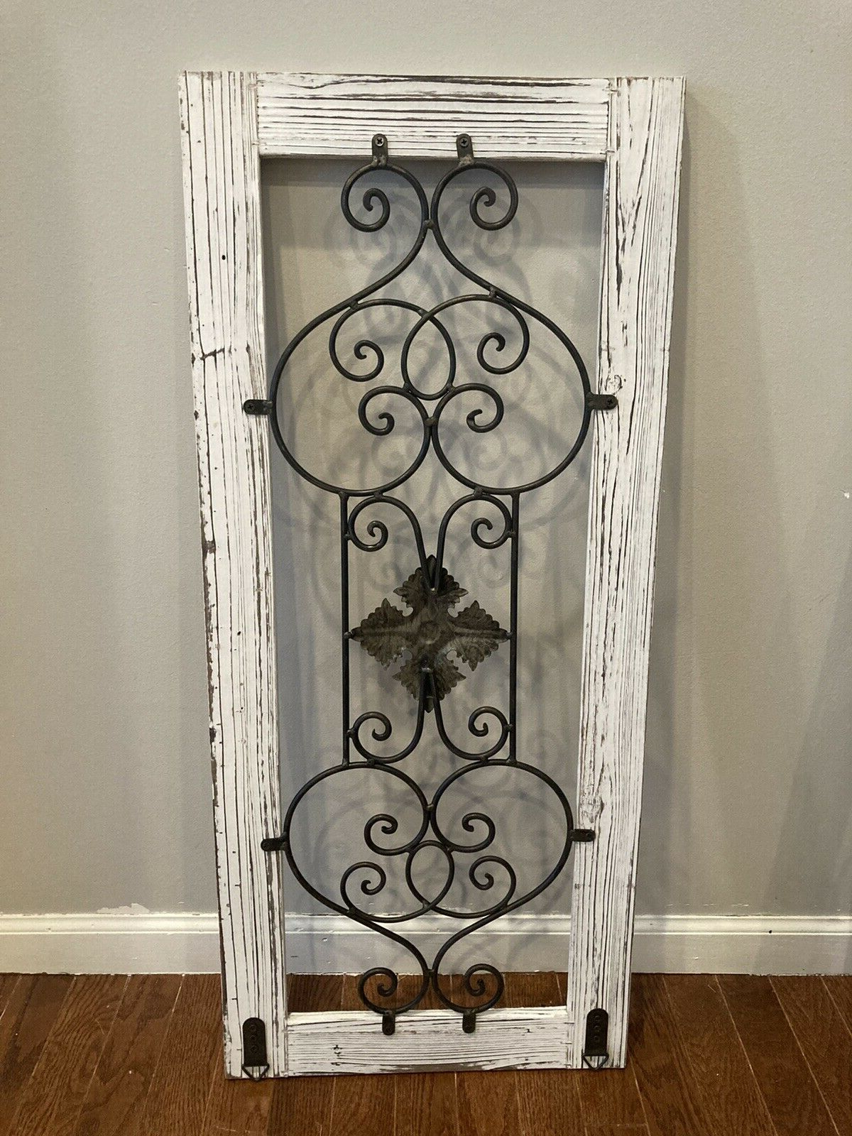 Popular Home Decor Wood And Metal White Rectangle Wall Decor For Metal Wall Décor By Charlton Home (View 2 of 20)