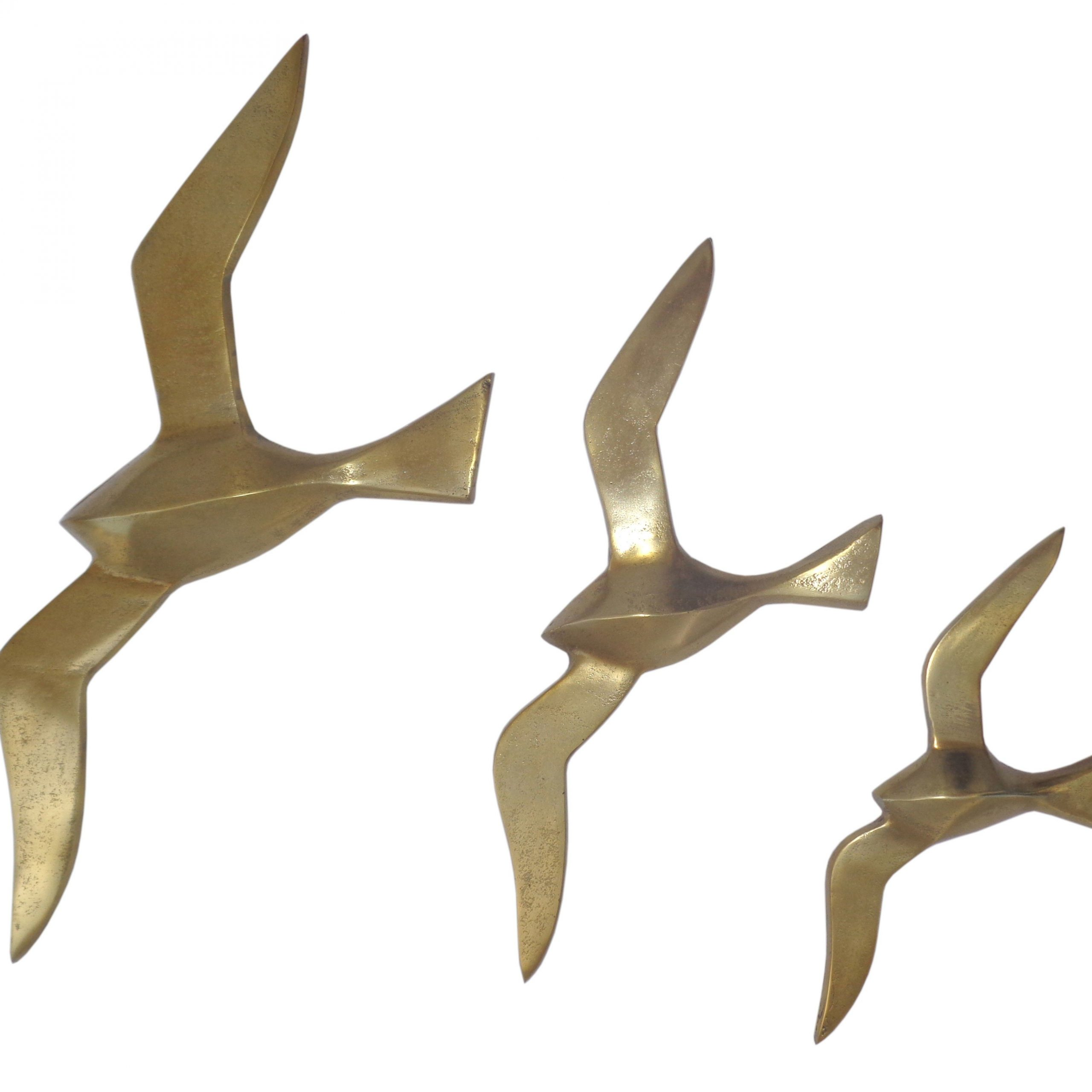 Popular Metal Birds Wall Décor By Beachcrest Home For A Set Of Three Sculptural Birds Adds Dimension To Blank (View 16 of 20)