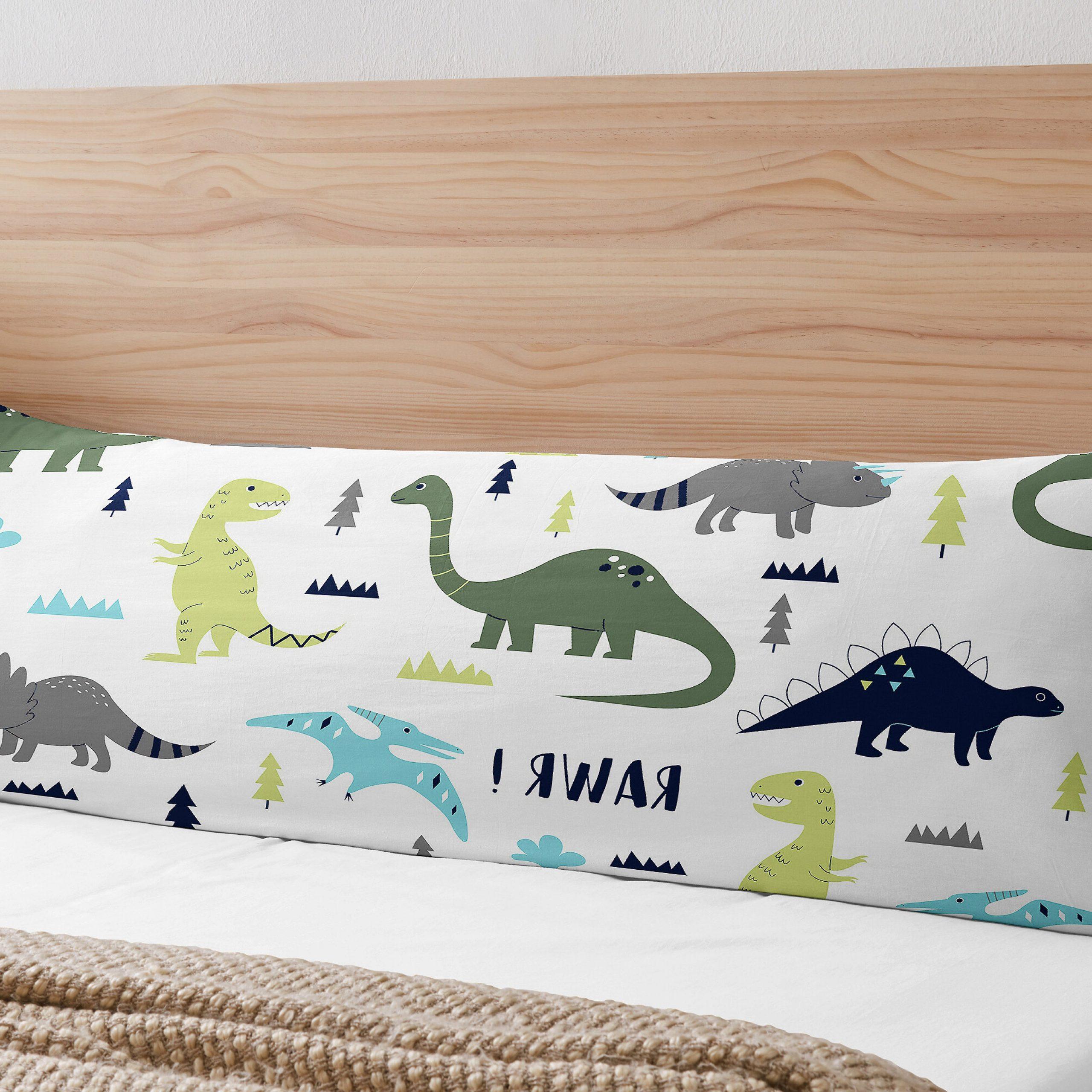 Popular Mod Dinosaur Body Pillow Case Regarding Blended Fabric Mod Dinosaur 3 Piece Wall Hangings Set (View 19 of 20)