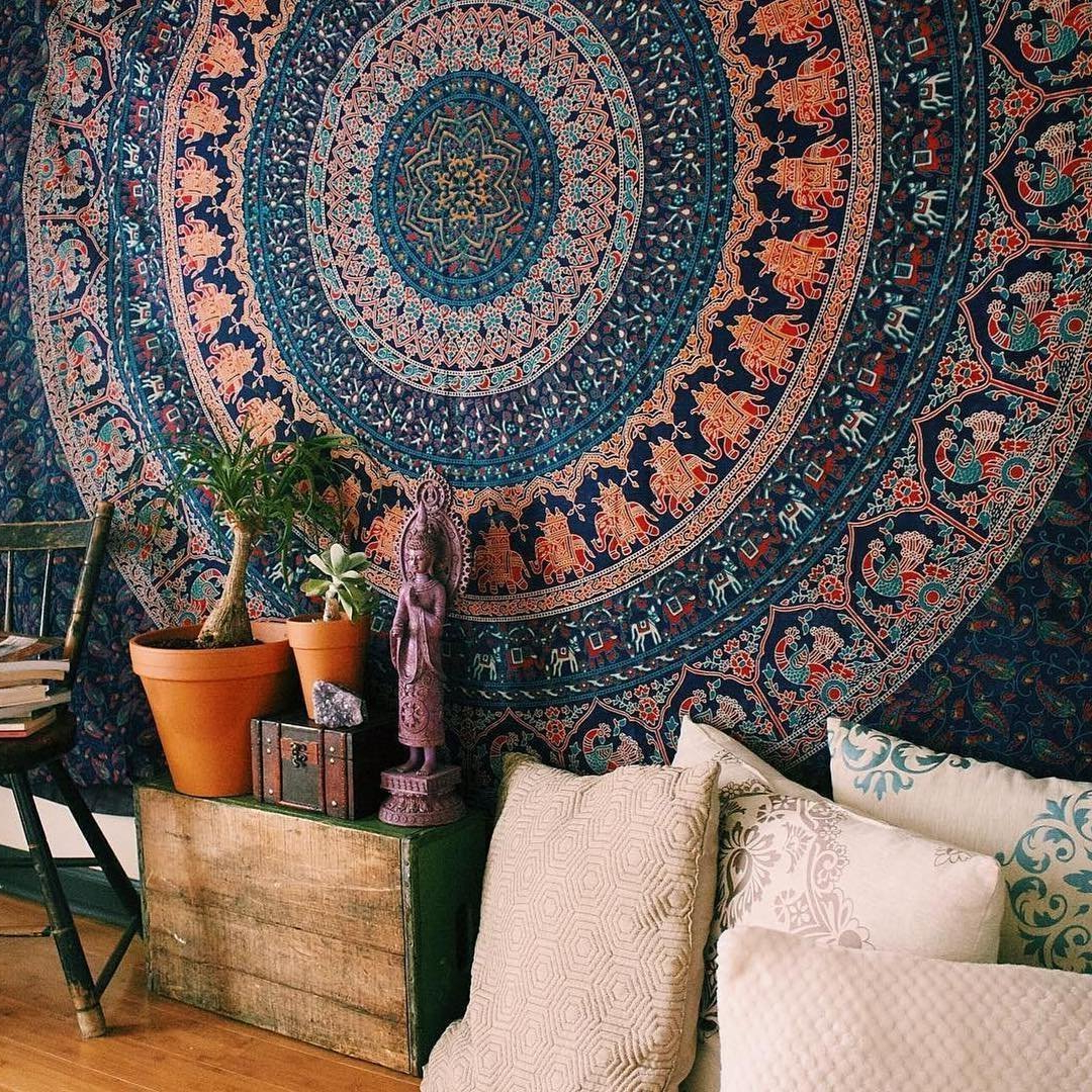 Popular Plum & Bow Bohemian Mandala Wall Hanging Tapestry Pertaining To Blended Fabric Southwestern Bohemian Wall Hangings (View 18 of 20)