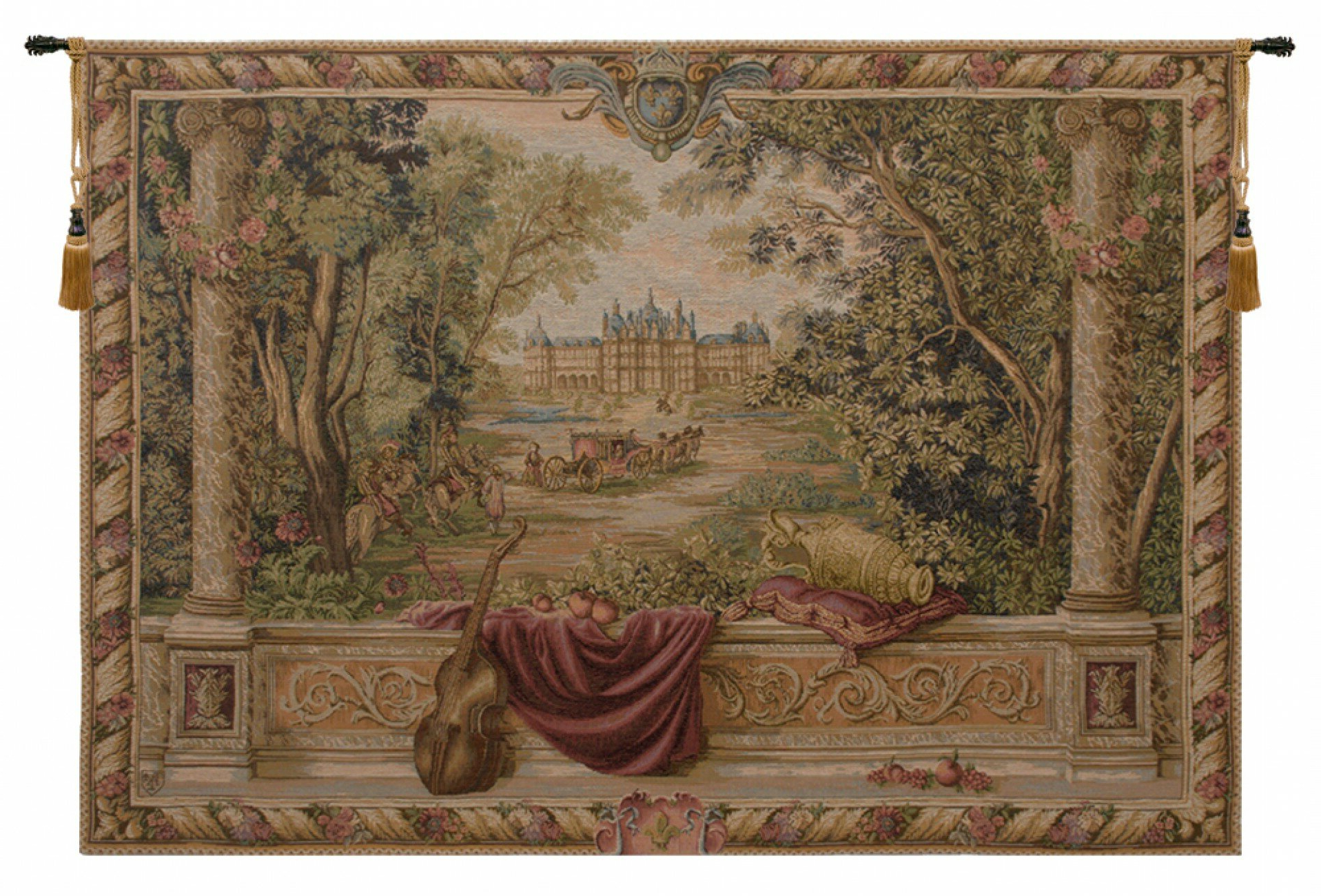 Featured Photo of Blended Fabric Verdure Au Chateau Ii European Tapestries