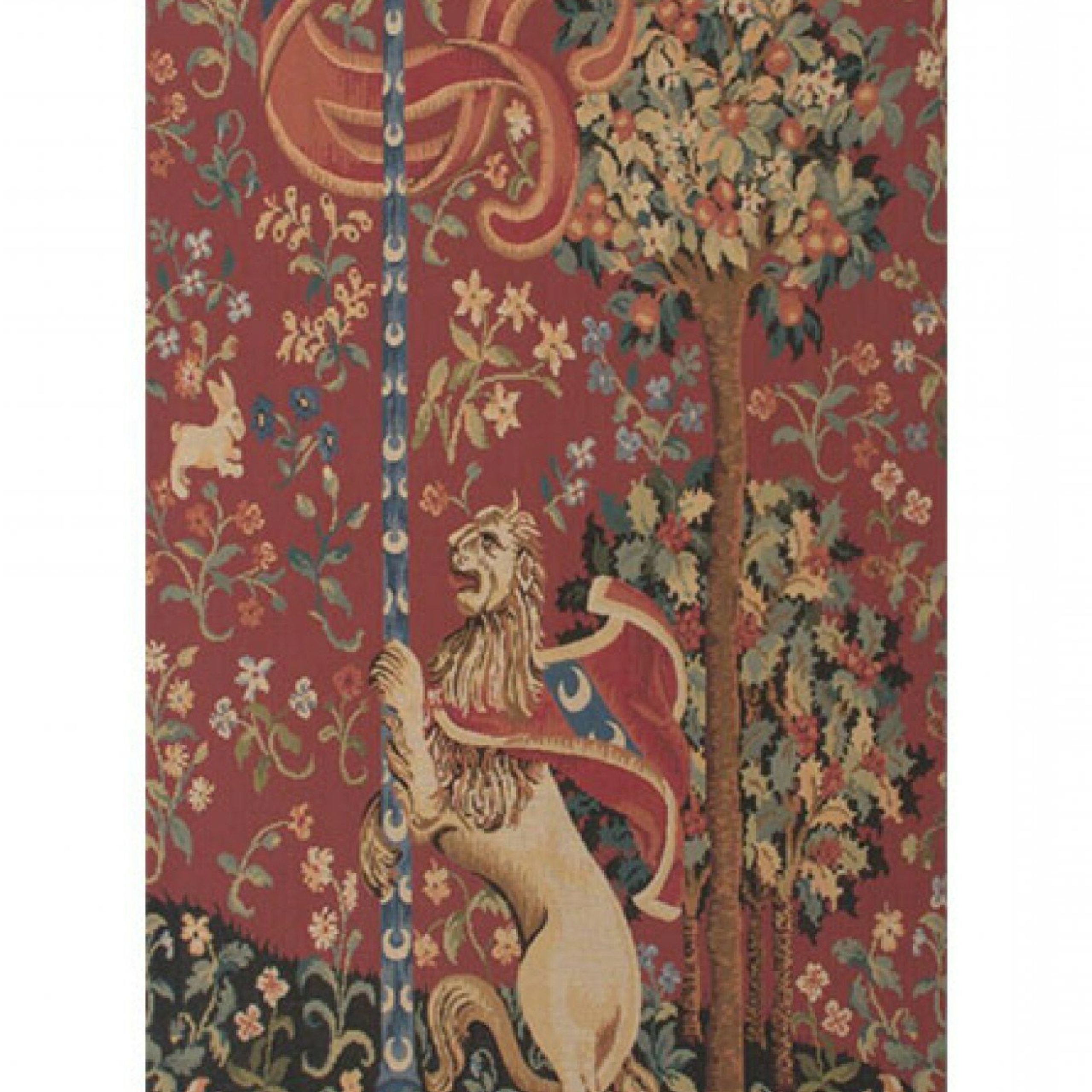 Portiere Medieval Lion European Wall Hanging For Trendy Lion I European Tapestries (View 5 of 20)