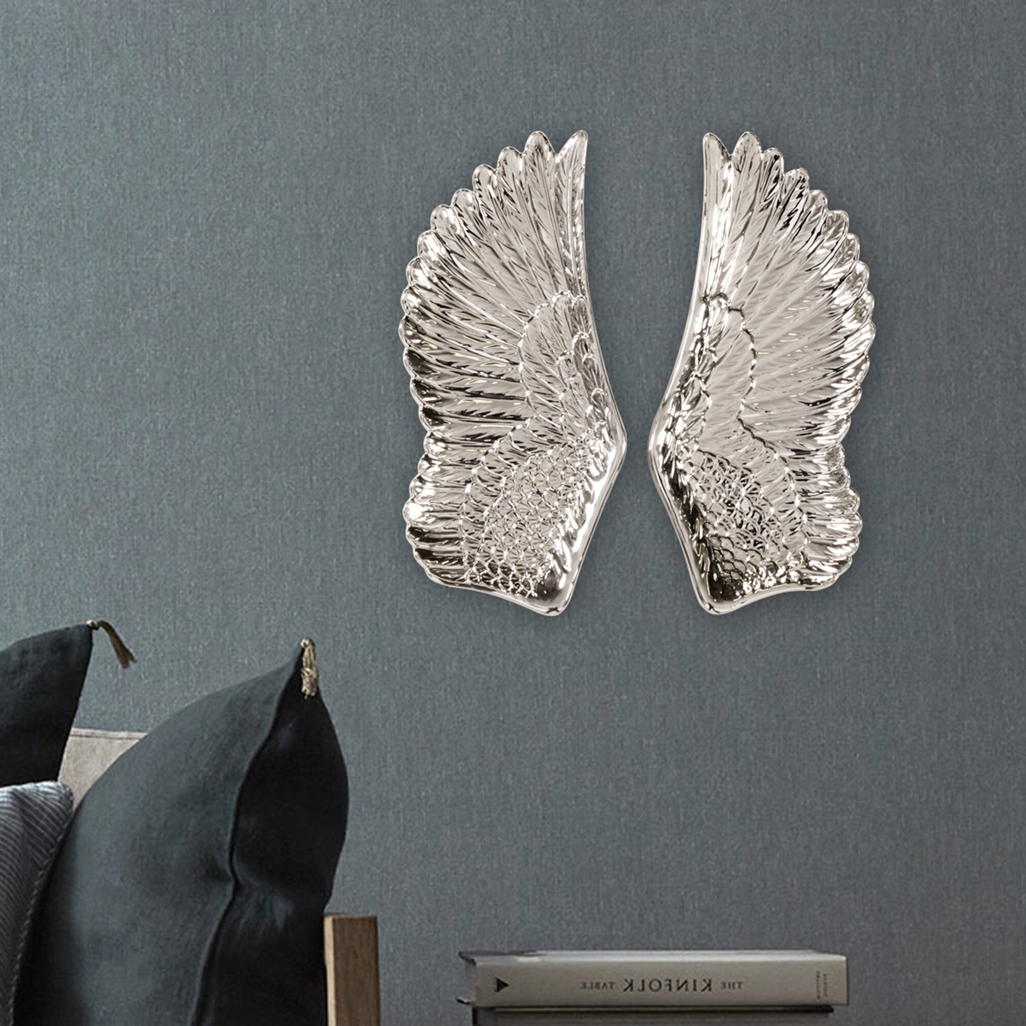 Preferred 2 Piece Wing Wall Décor Set For Wing Wall Décor By One Allium Way (View 14 of 20)