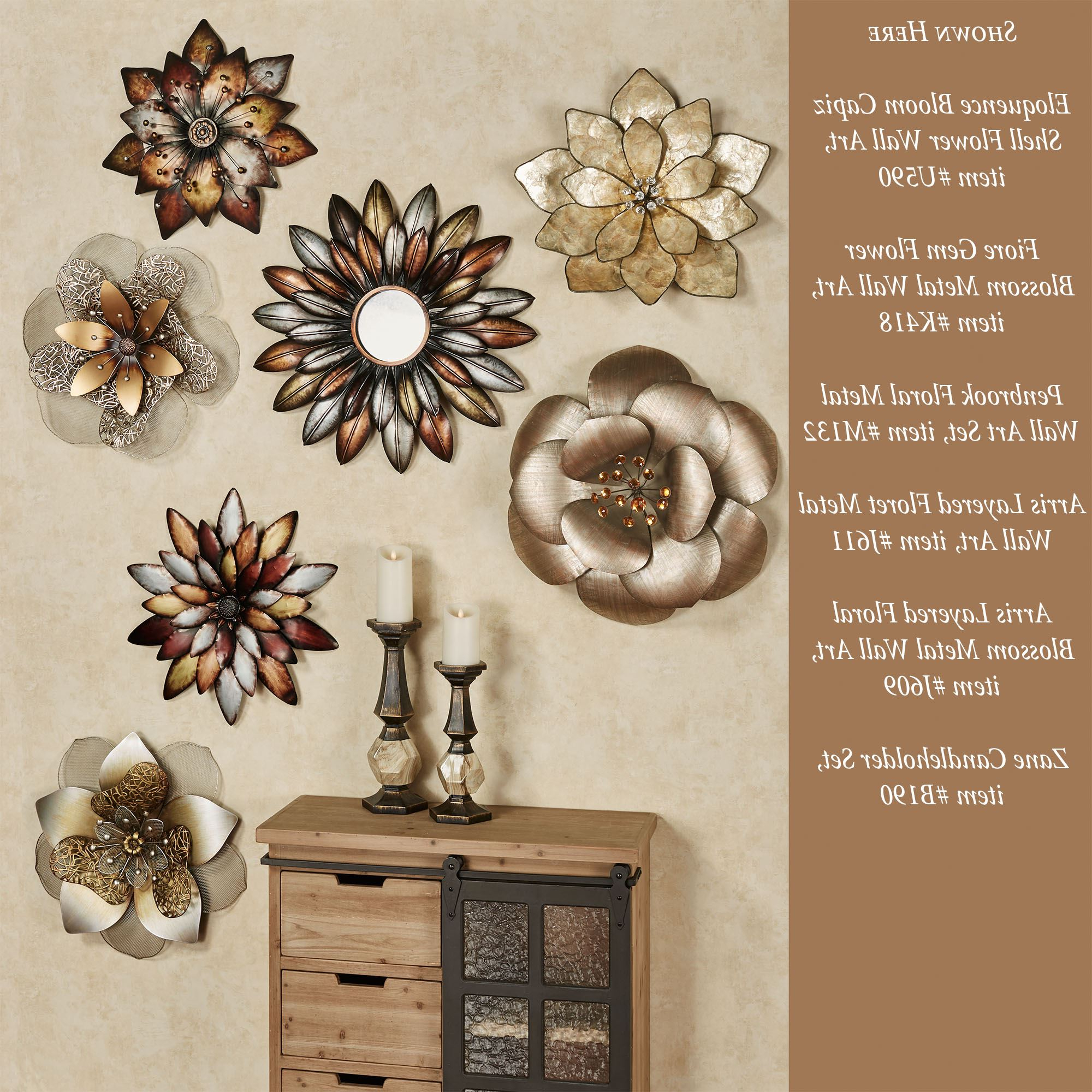 Preferred Arris Layered Floret Metal Wall Art Pertaining To Maria Metal Capiz Wall Décor (View 20 of 20)