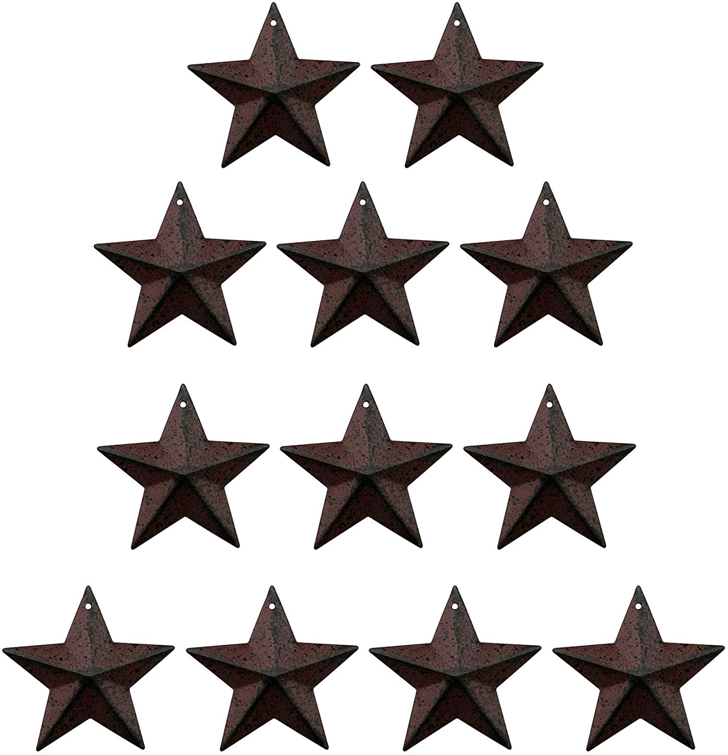 Preferred Barn Star Wall Décor (set Of 2) For Taianle. Small Tin Galvanized Barn Star, Rustic Burgundy/black  Color,primitive Antique Vintage Distressed Wall/door Decor, 2 1/4 Inch, Set  Of  (View 6 of 20)