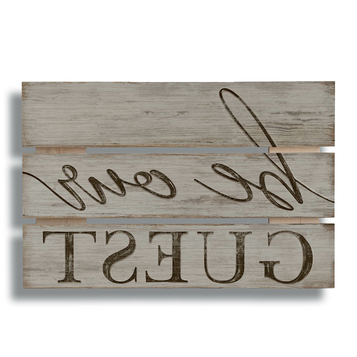 """Preferred Be Our Guest Wood Sign Wall Decor For Heart Shaped """"welcome"""" Sign Wall Décor By August Grove (View 10 of 20)"""