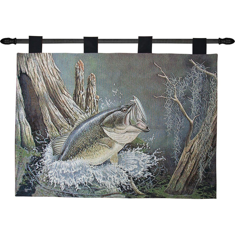 Preferred Blended Fabric Lago Di Como Ii Wall Hangings Throughout Bass Lake Tapestry Wall Hanging (View 4 of 20)