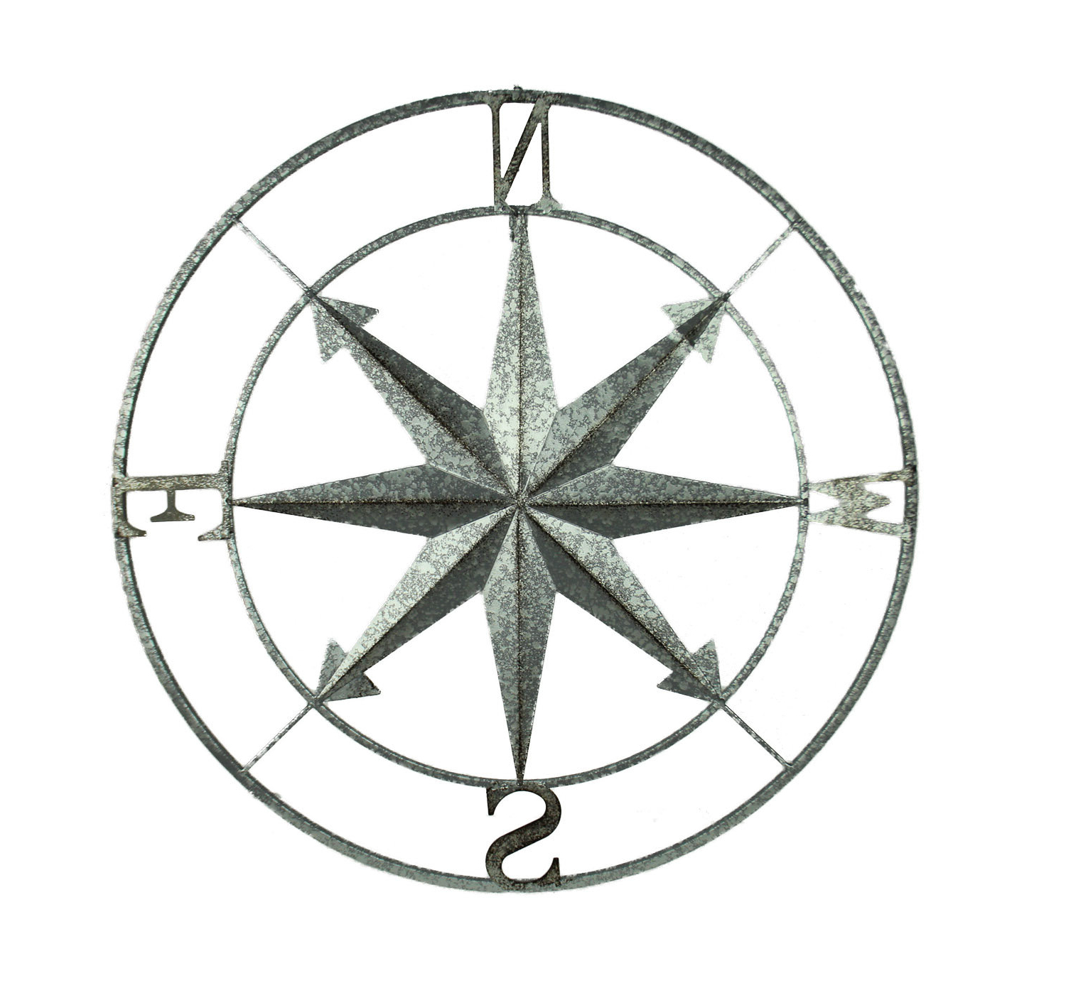 Preferred Compass Metal Wall Décor By Beachcrest Home Throughout Metal Compass Rose Wall Décor (View 15 of 20)