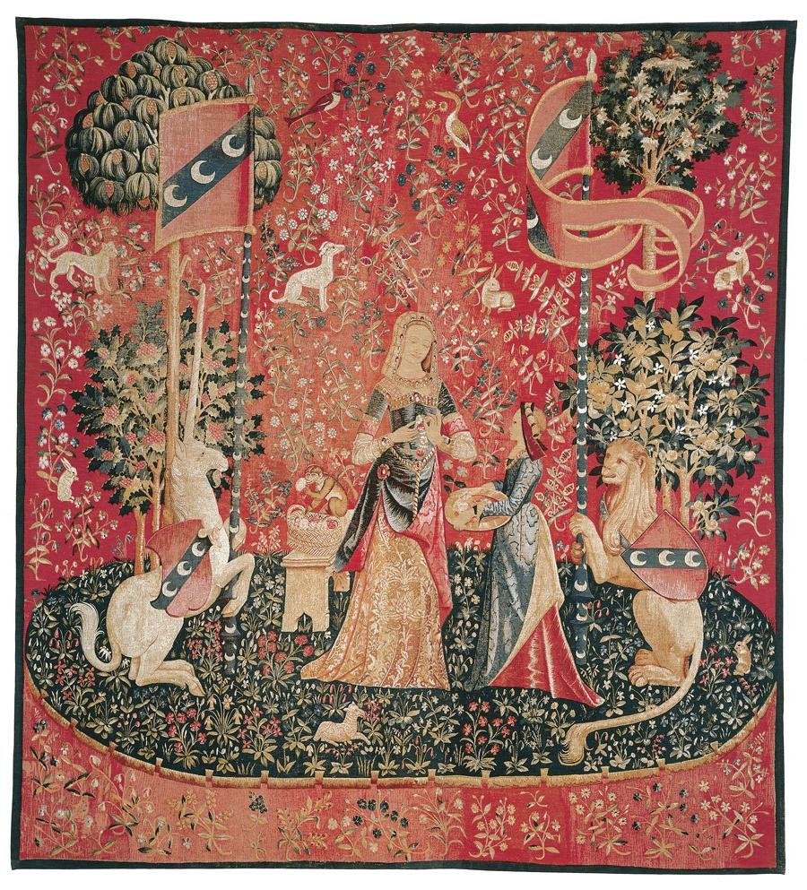 Preferred Dame A La Licorne I Tapestries Throughout La Dame A La Licorne 'l'odorat' Tapestry (View 4 of 20)