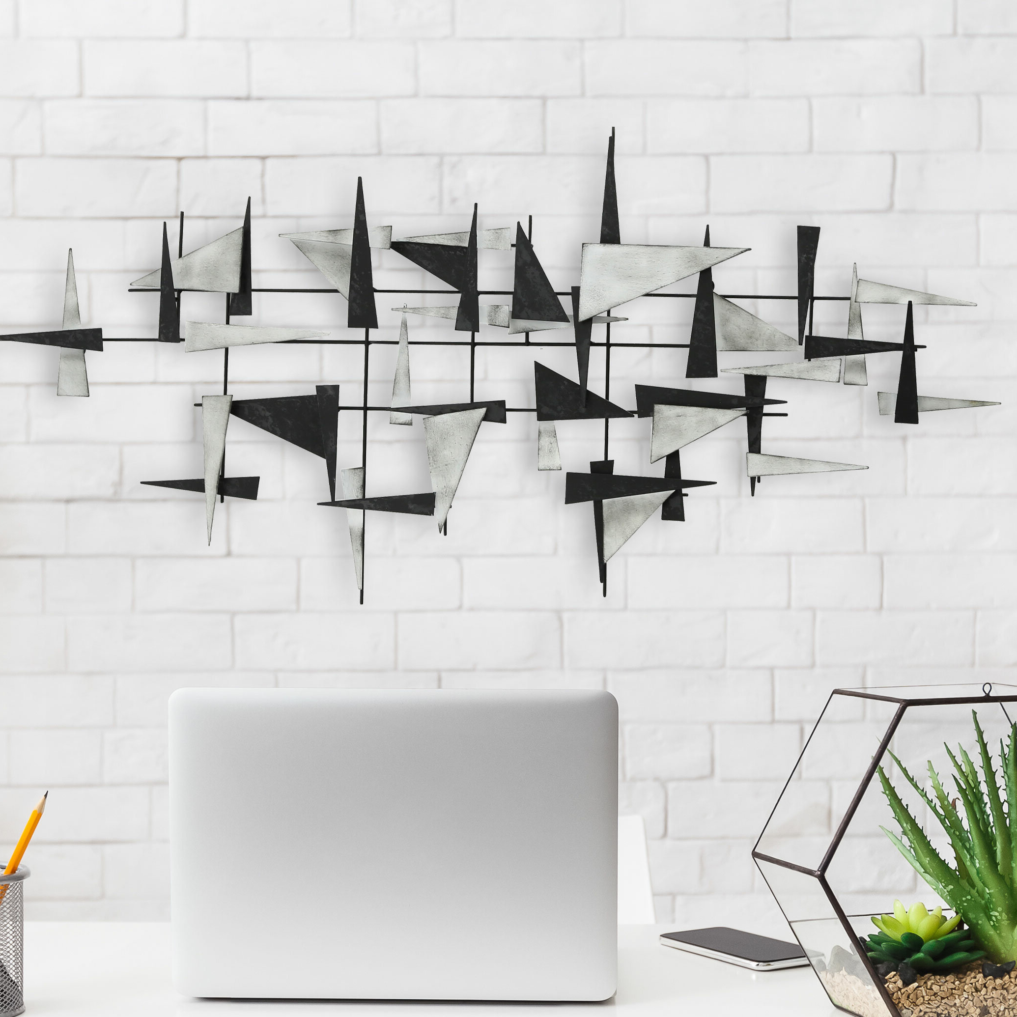 Preferred Floating Triangles Wall Décor Throughout Wall Décor By Brayden Studio (View 14 of 20)