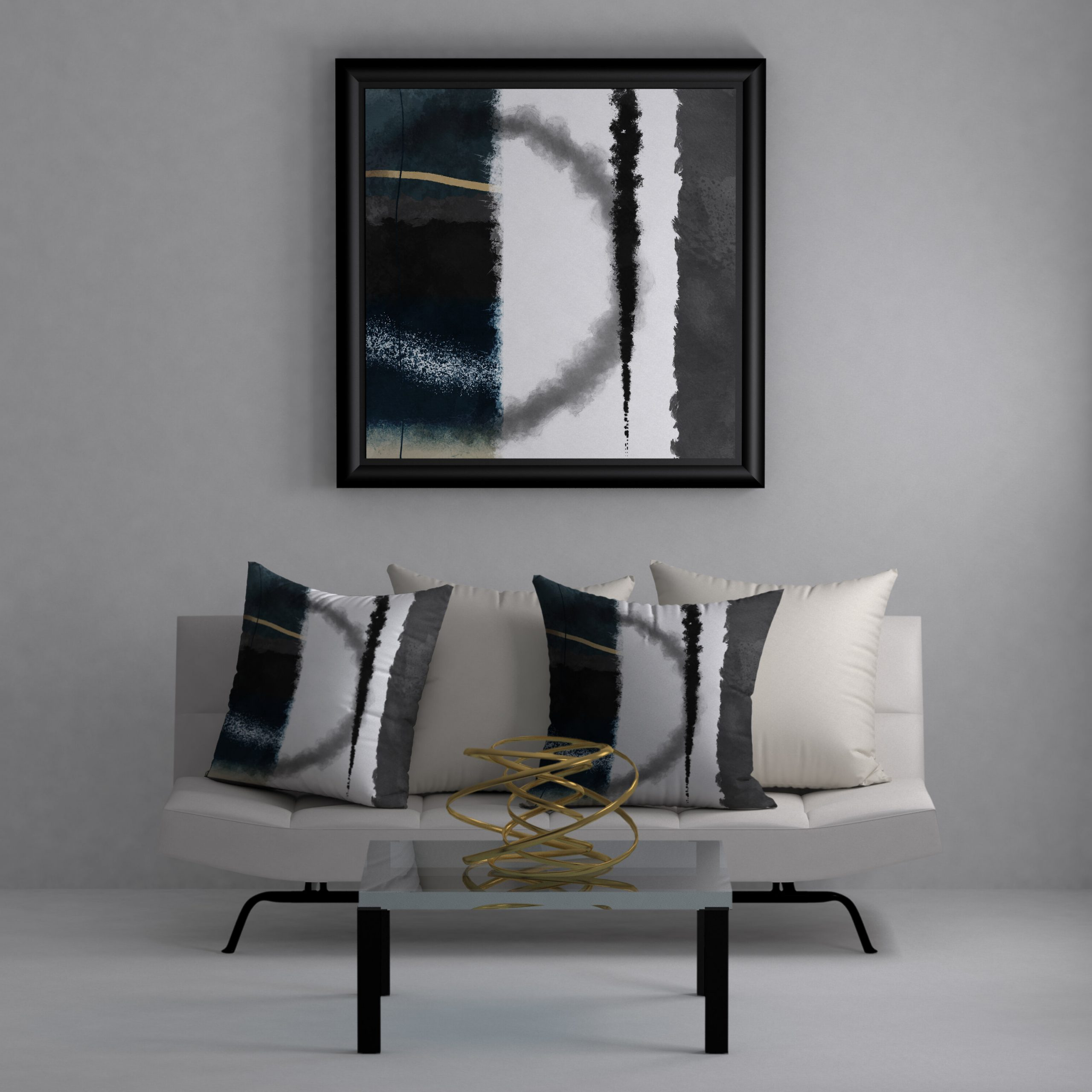 Preferred Graceful Wall Décor By Orren Ellis Within Divine Graceful Square Pillow Cover & Insert (View 4 of 20)