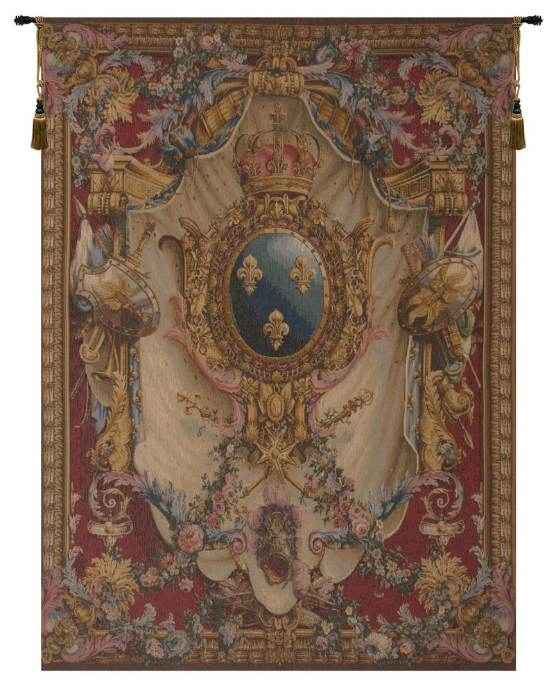 Preferred Grandes Armoiries I European Tapestries With Regard To Grandes Armoiries Red European Tapestry Wall Hanging, B – H 58 X W (View 2 of 20)