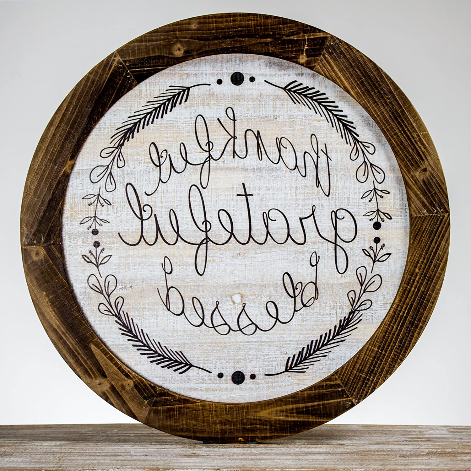 Preferred Grateful, Thankful, Blessed Wall Decor With Regard To Buy American Art Decor Thankful Grateful Blessed Rustic Wood (View 20 of 20)