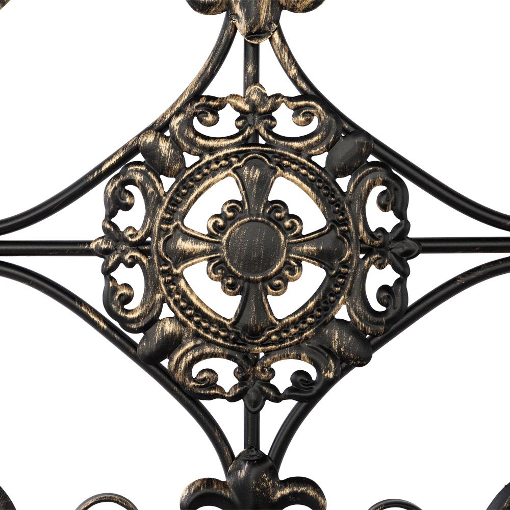 Preferred Large Tuscan Wrought Iron Metal Wall Decor Rustic Antique Pertaining To Antique Iron Alloy Wall Décor (View 10 of 20)