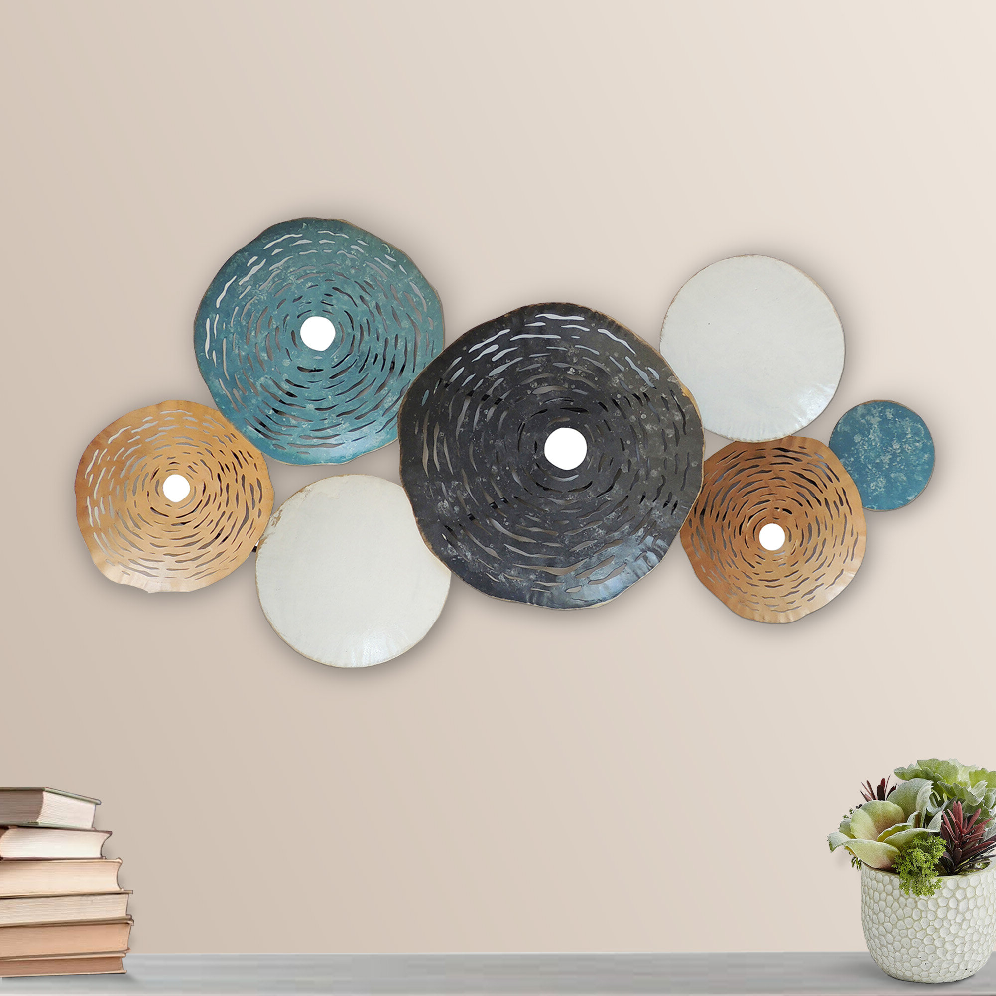 Preferred Round Metal Disc Wall Décor Pertaining To Ginkgo Leaf Metal Wall Décor By Winston Porter (View 18 of 20)