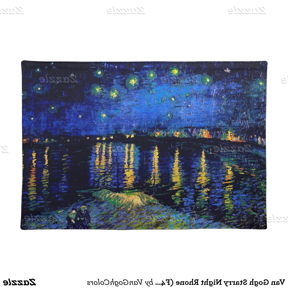 Featured Photo of Blended Fabric Van Gogh Starry Night Over The Rhone Wall Hangings